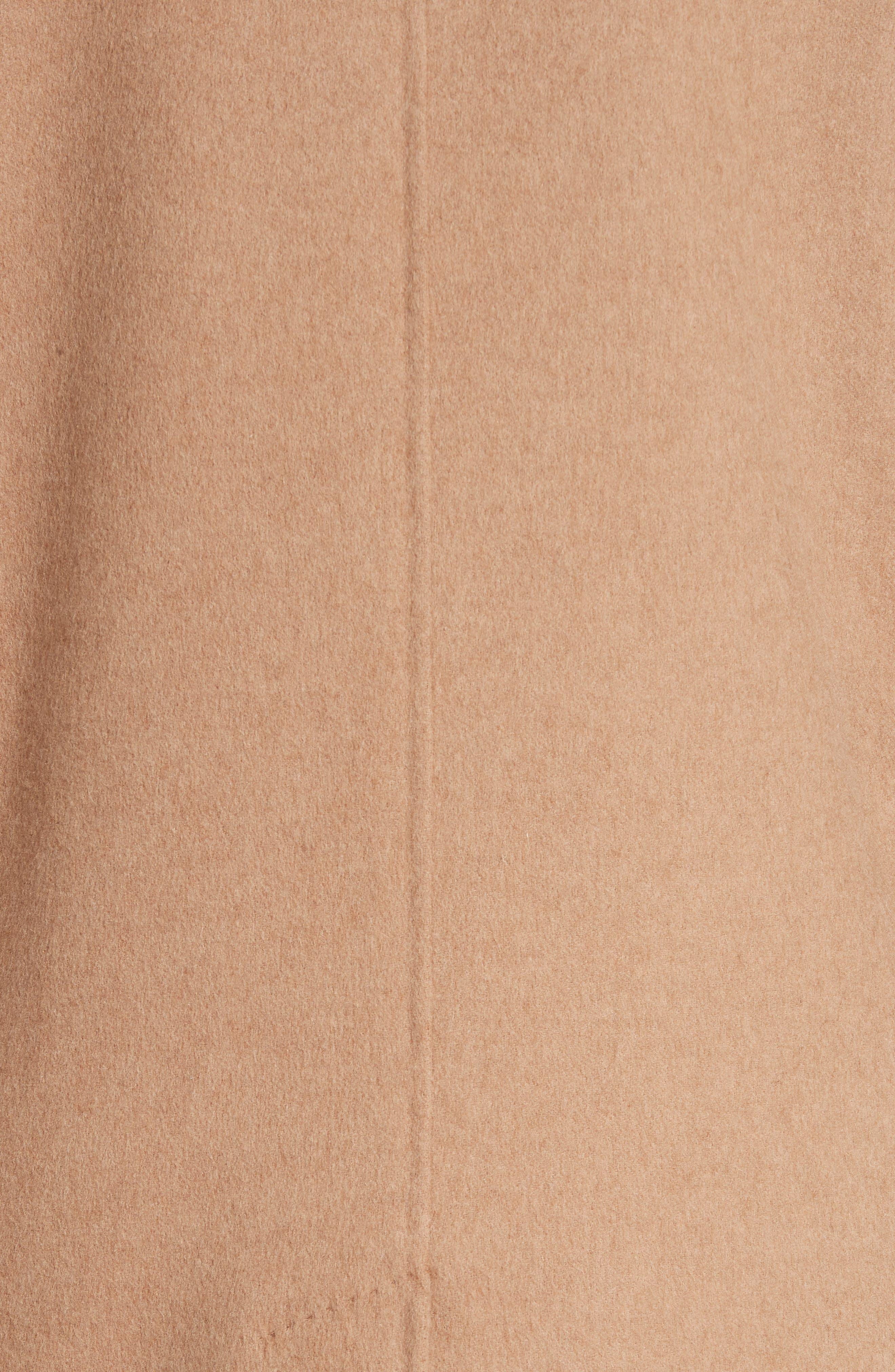 Aureo Camel Hair Coat,                             Alternate thumbnail 5, color,                             Camel