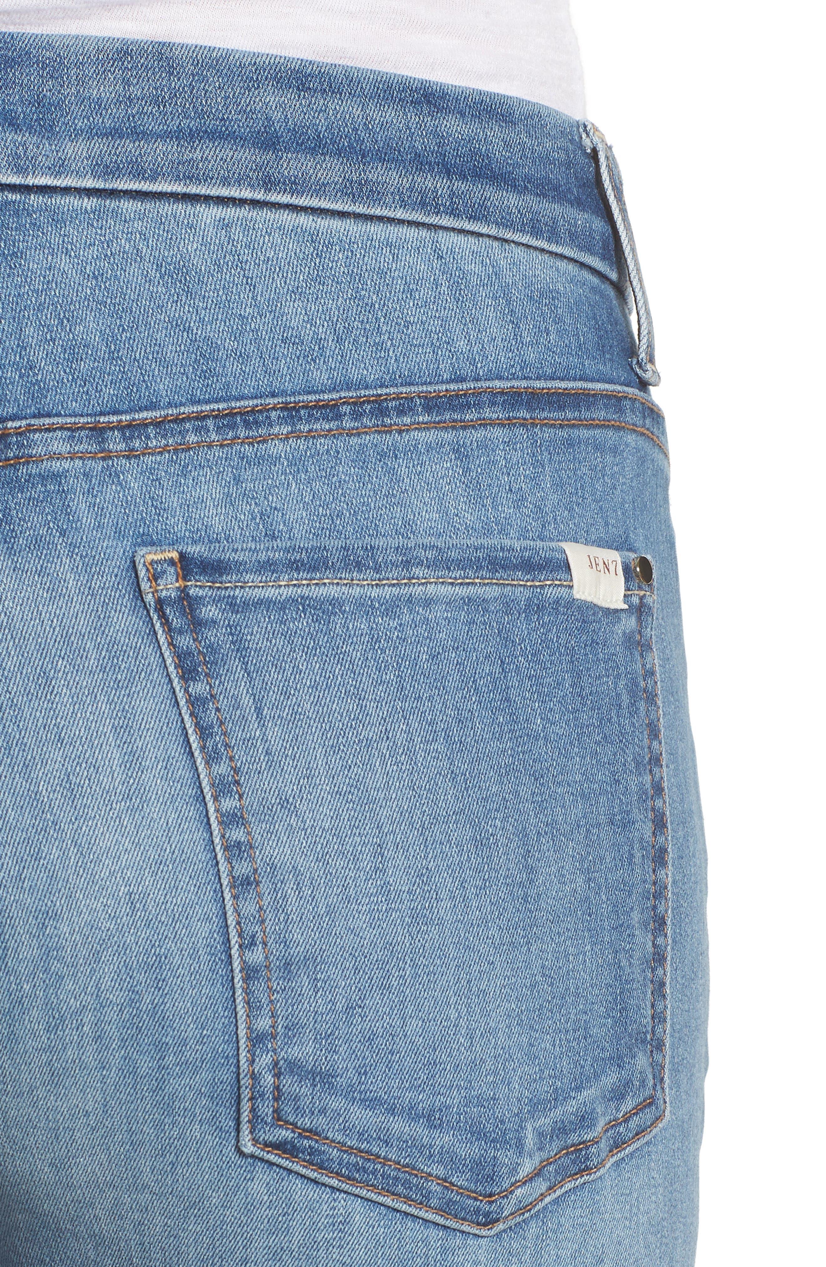Slim Boyfriend Jeans,                             Alternate thumbnail 4, color,                             Sunlight
