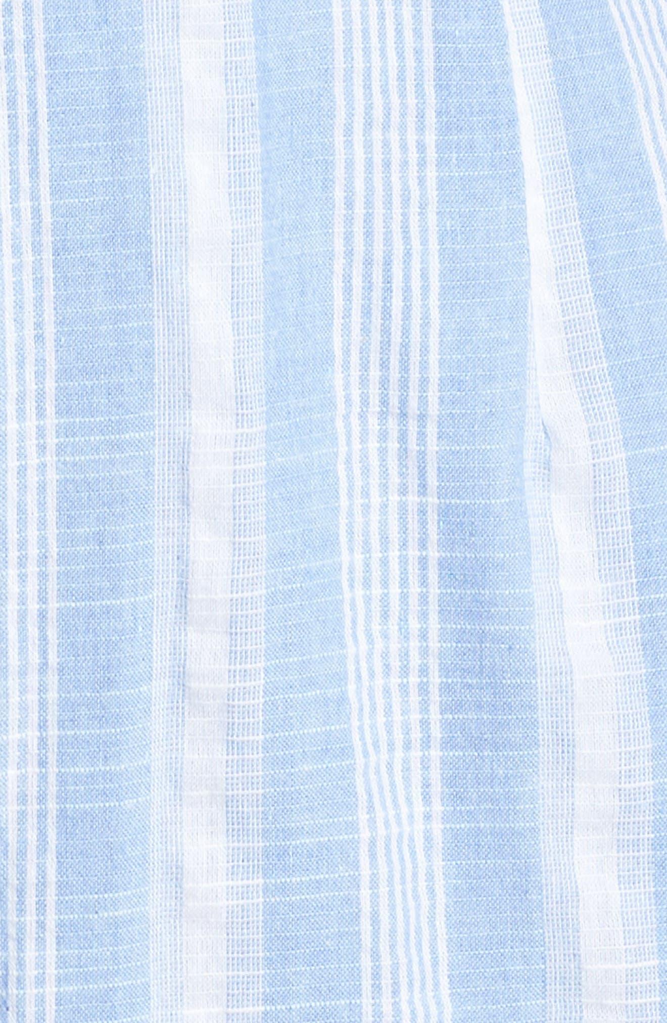Stripe Fringe Jumpsuit,                             Alternate thumbnail 6, color,                             Blue