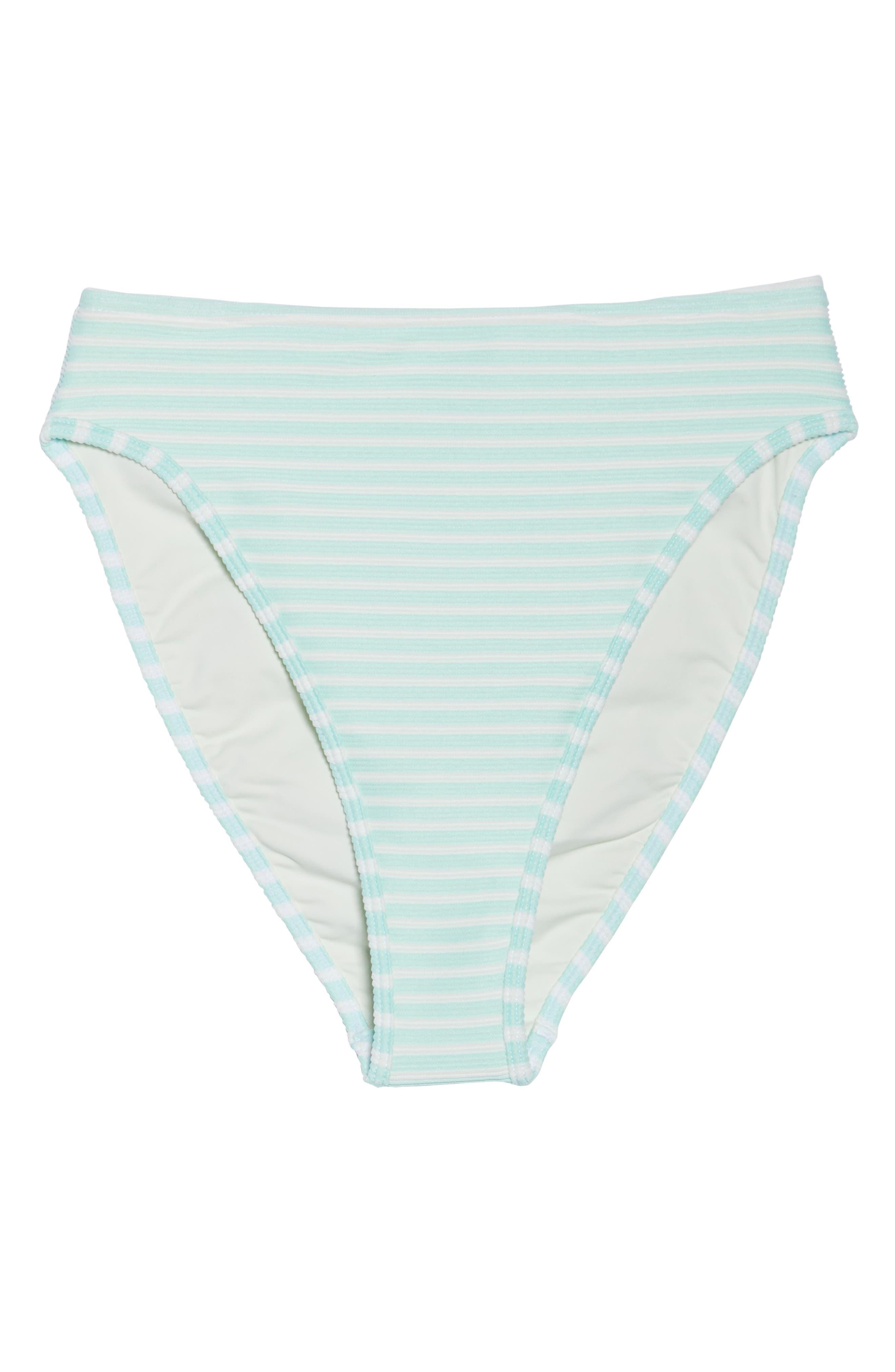 Pierre High Waist Bikini Bottoms,                             Alternate thumbnail 9, color,                             Spearmint