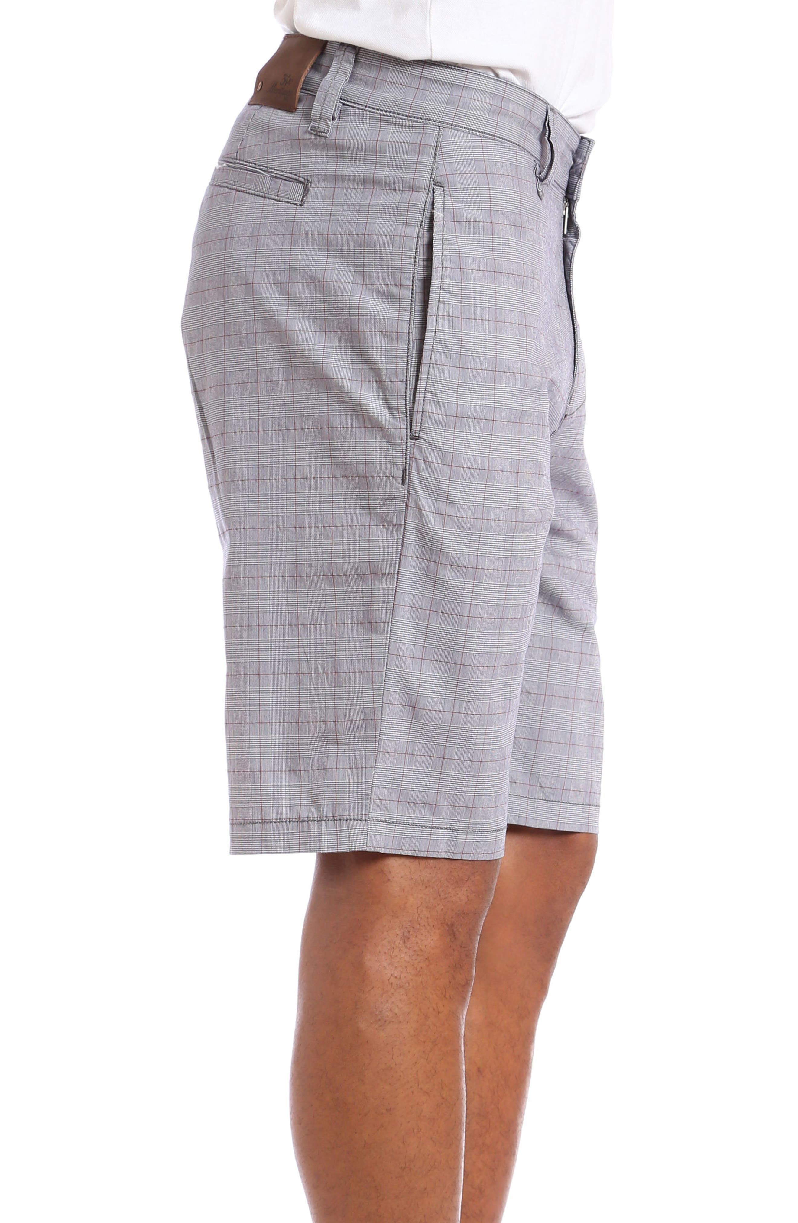 Nevada Twill Shorts,                             Alternate thumbnail 3, color,                             Grey Plaid