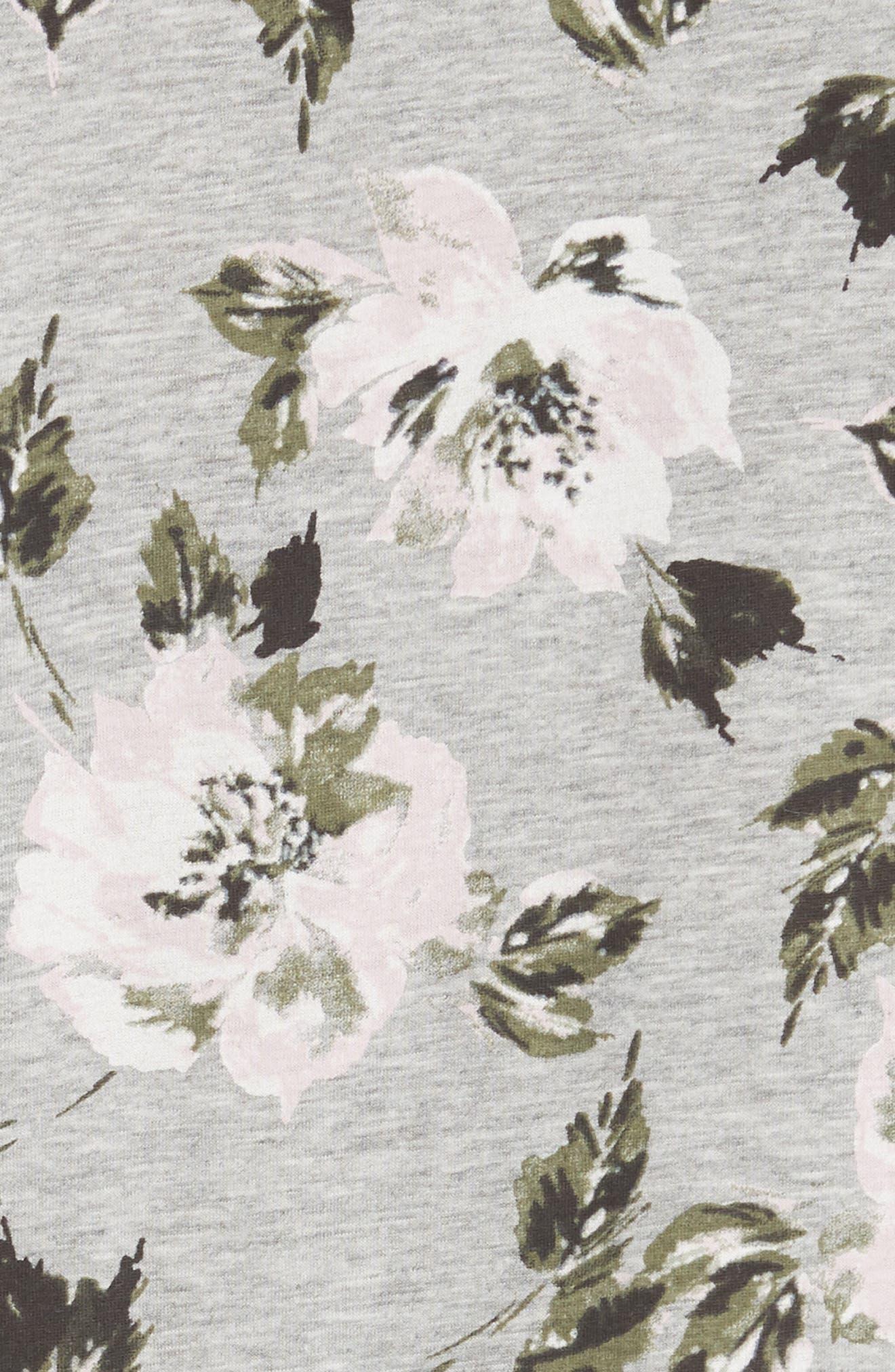 Magnolia Flutter Sleeve Cotton Top,                             Alternate thumbnail 5, color,                             Grey