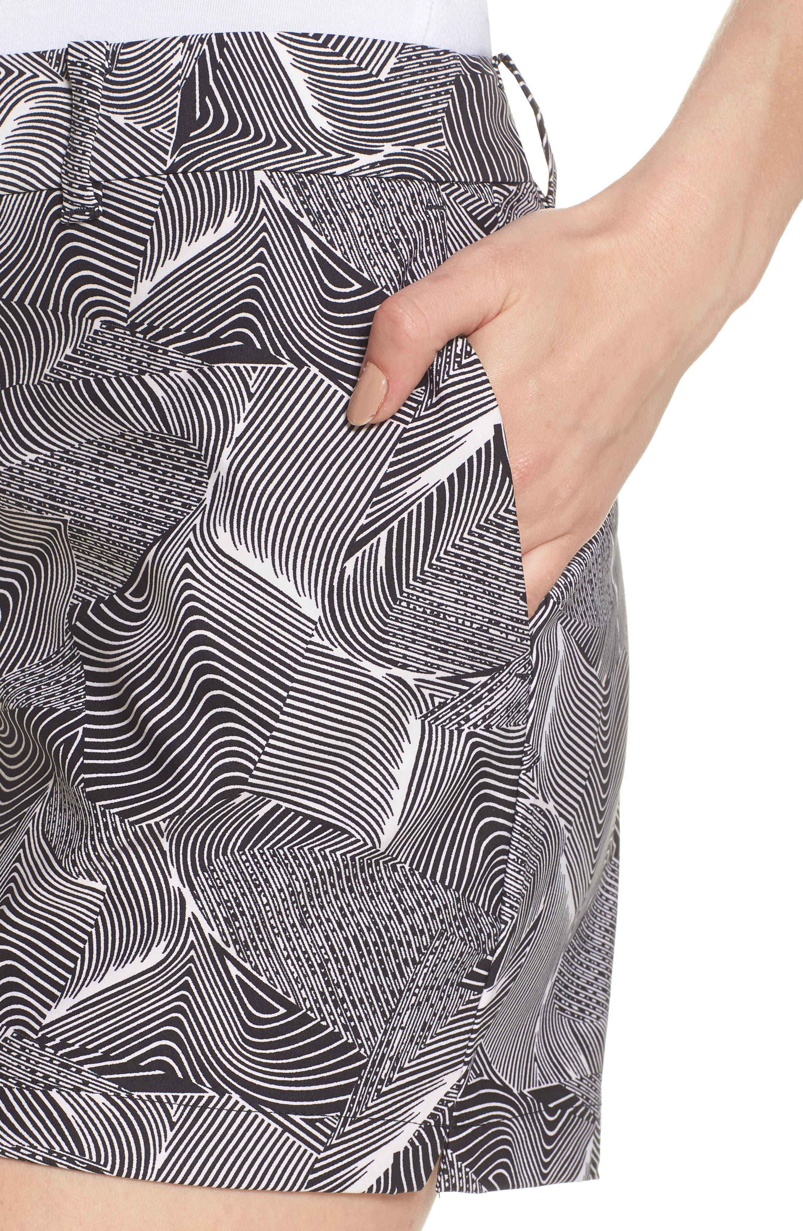 Flex Golf Shorts,                             Alternate thumbnail 4, color,                             White/ Black/ White