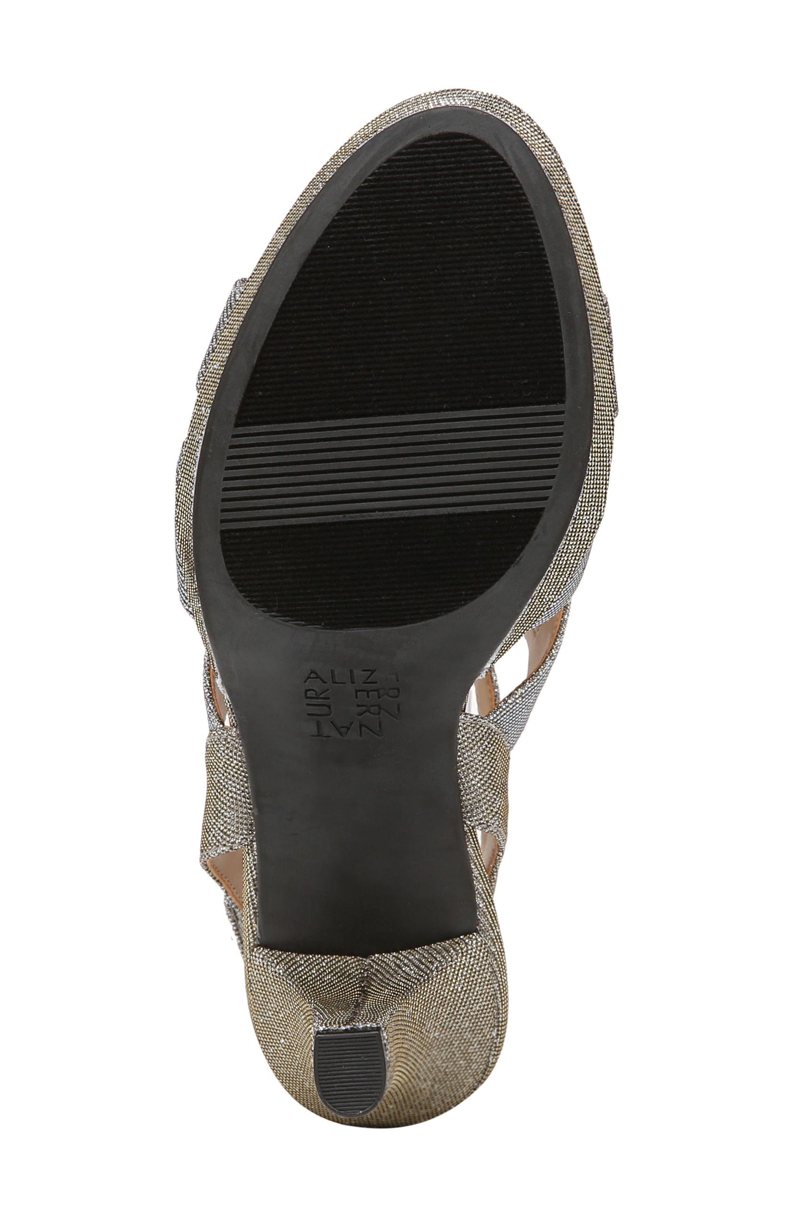 'Pressley' Slingback Platform Sandal,                             Alternate thumbnail 6, color,                             Alloy Sparkle Fabric