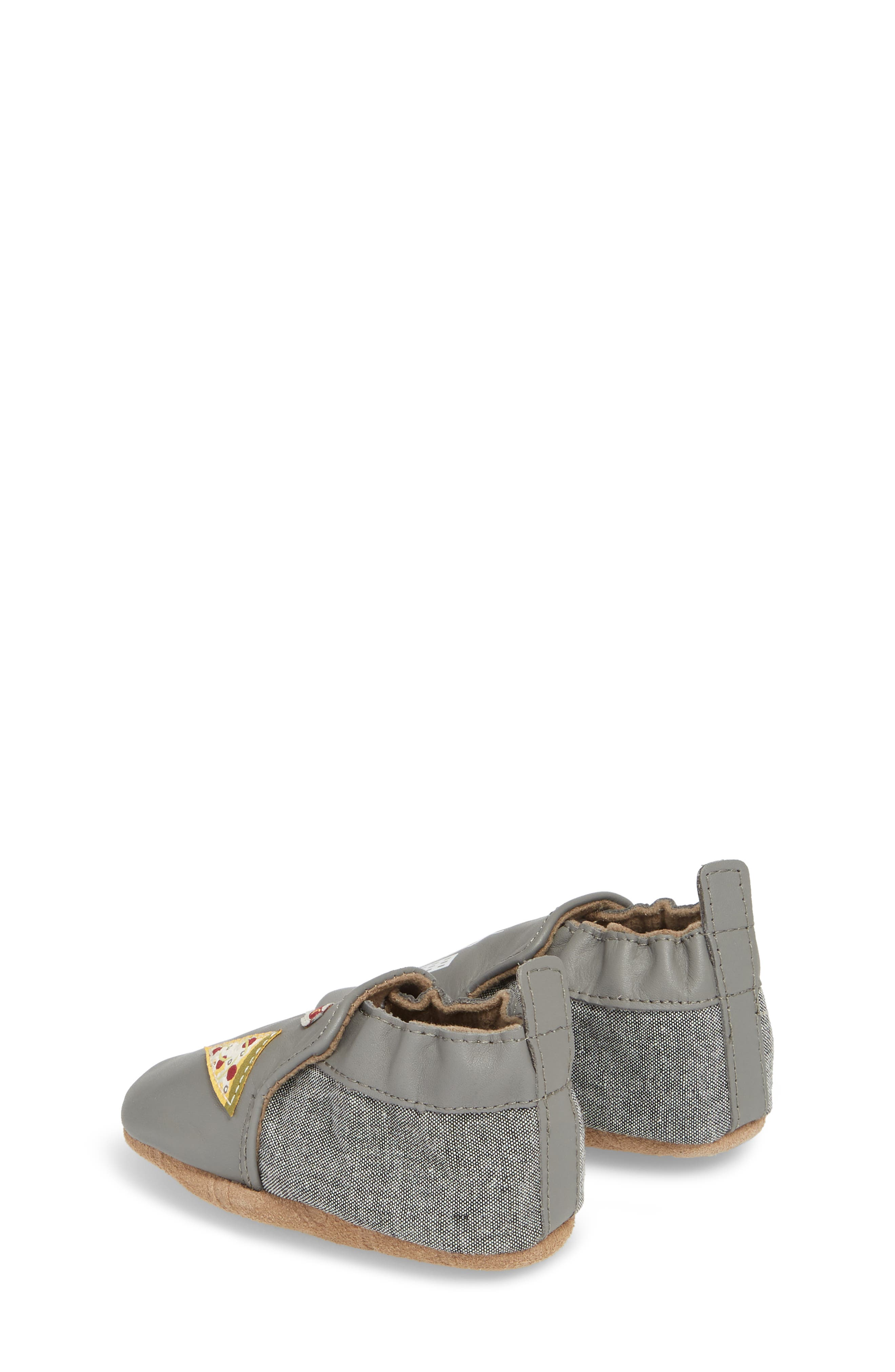 City Life Moccasin Crib Shoe,                             Alternate thumbnail 2, color,                             Grey