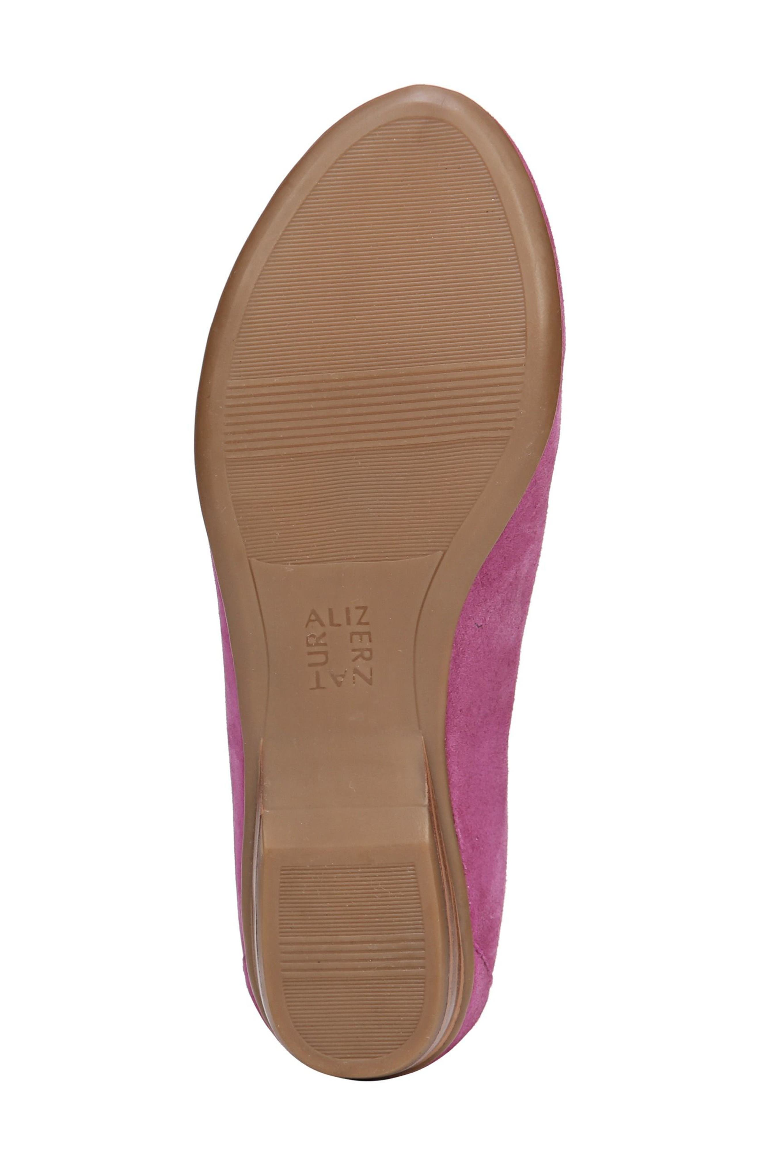 'Saban' Leather Loafer,                             Alternate thumbnail 4, color,                             Radiant Orchid Suede