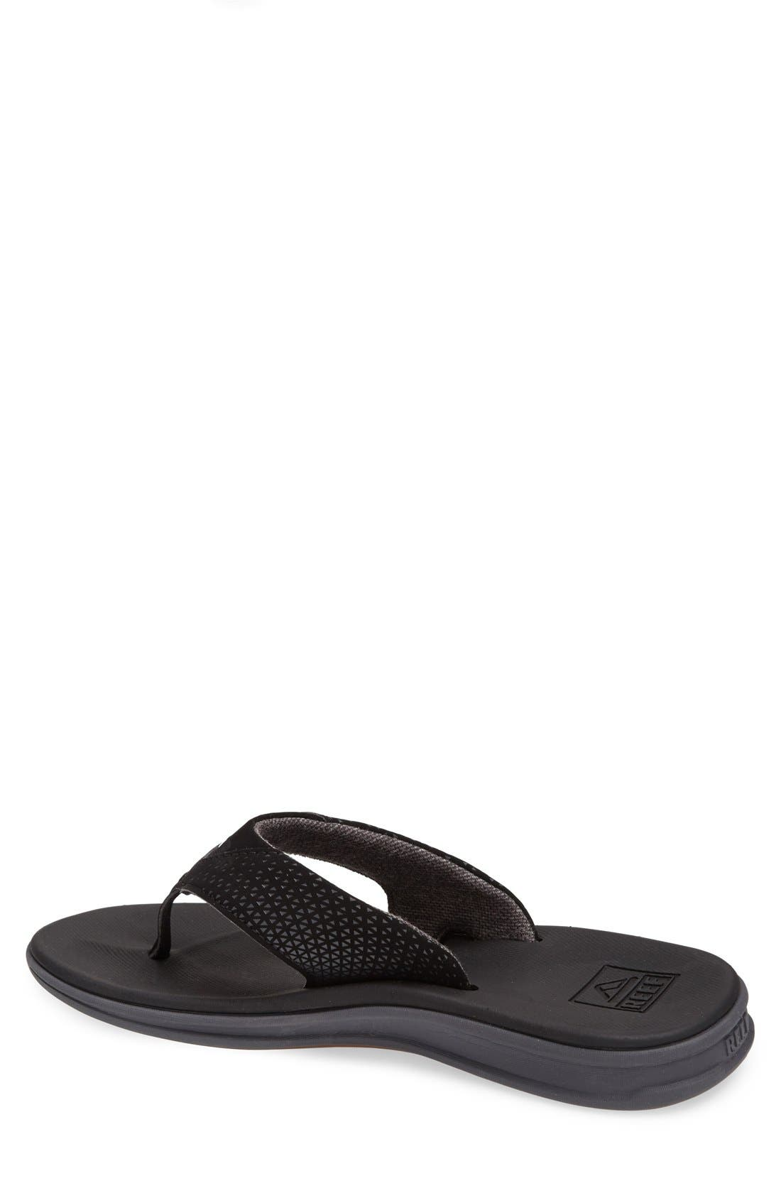 'Rover' Flip Flop,                             Alternate thumbnail 2, color,                             Black