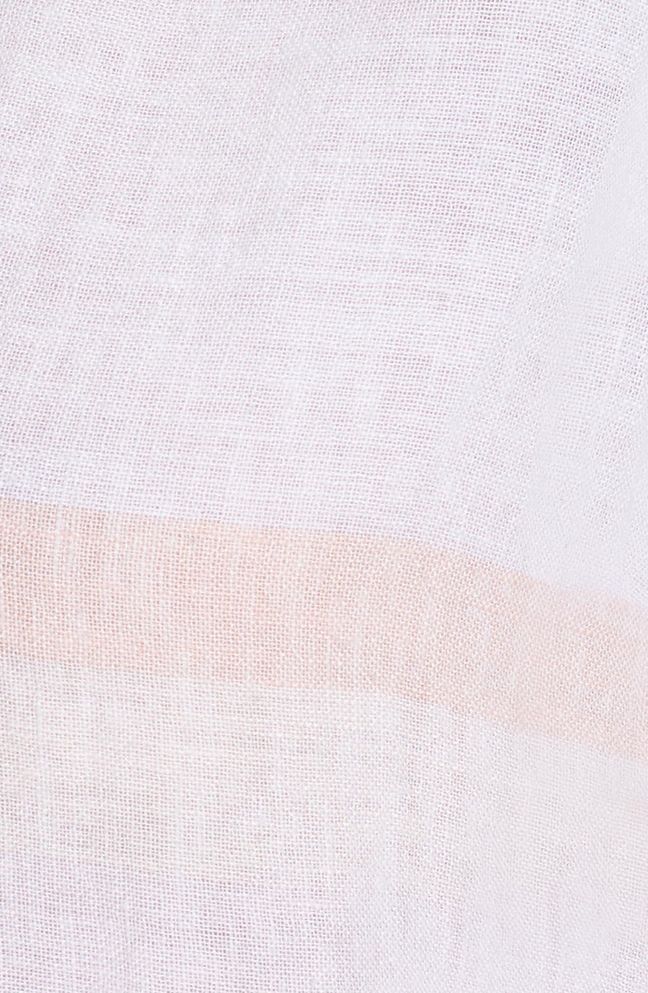 Lily Lace-Up Blouse,                             Alternate thumbnail 6, color,                             Seychelles Stripe