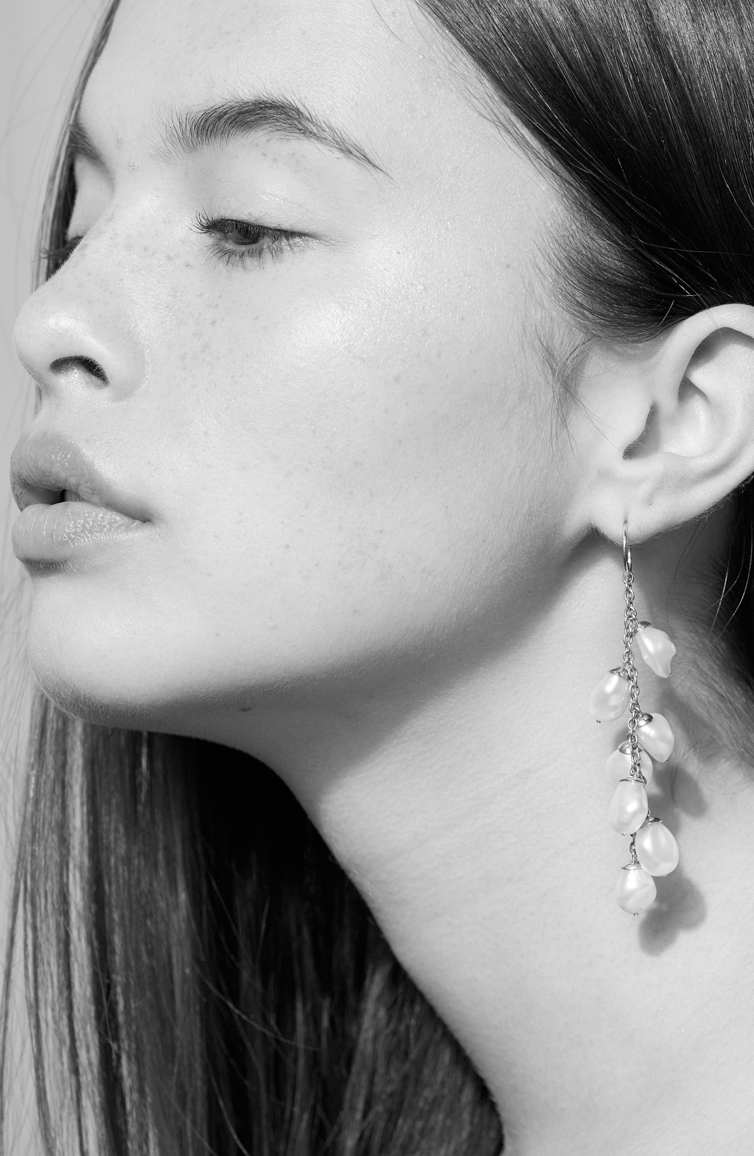Alternate Image 2  - Meadowlark Baroque Cultured Freshwater Pearl Drop Earrings