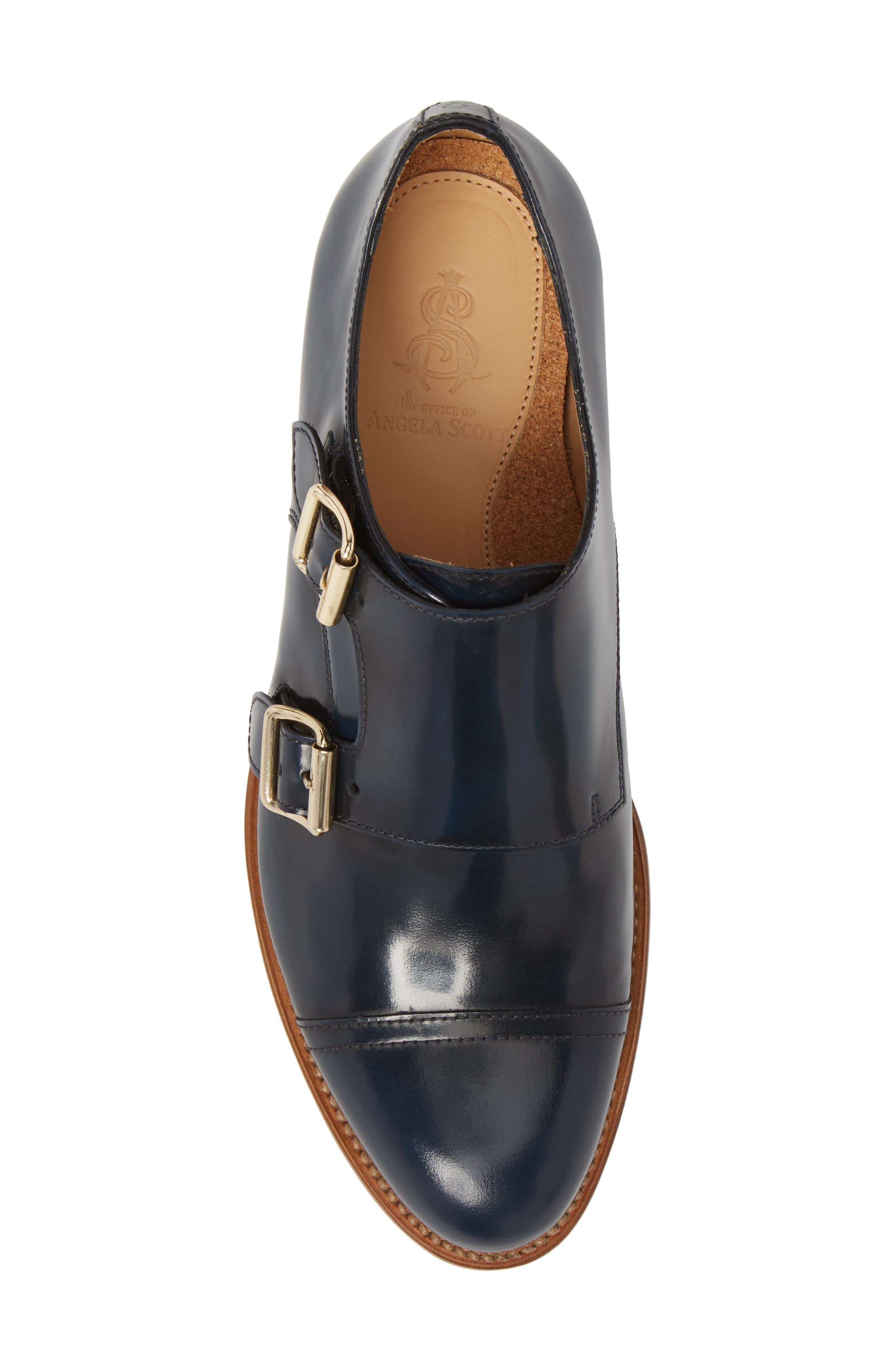 Mr. Colin Double Monk Strap Shoe,                             Alternate thumbnail 5, color,                             Ocean