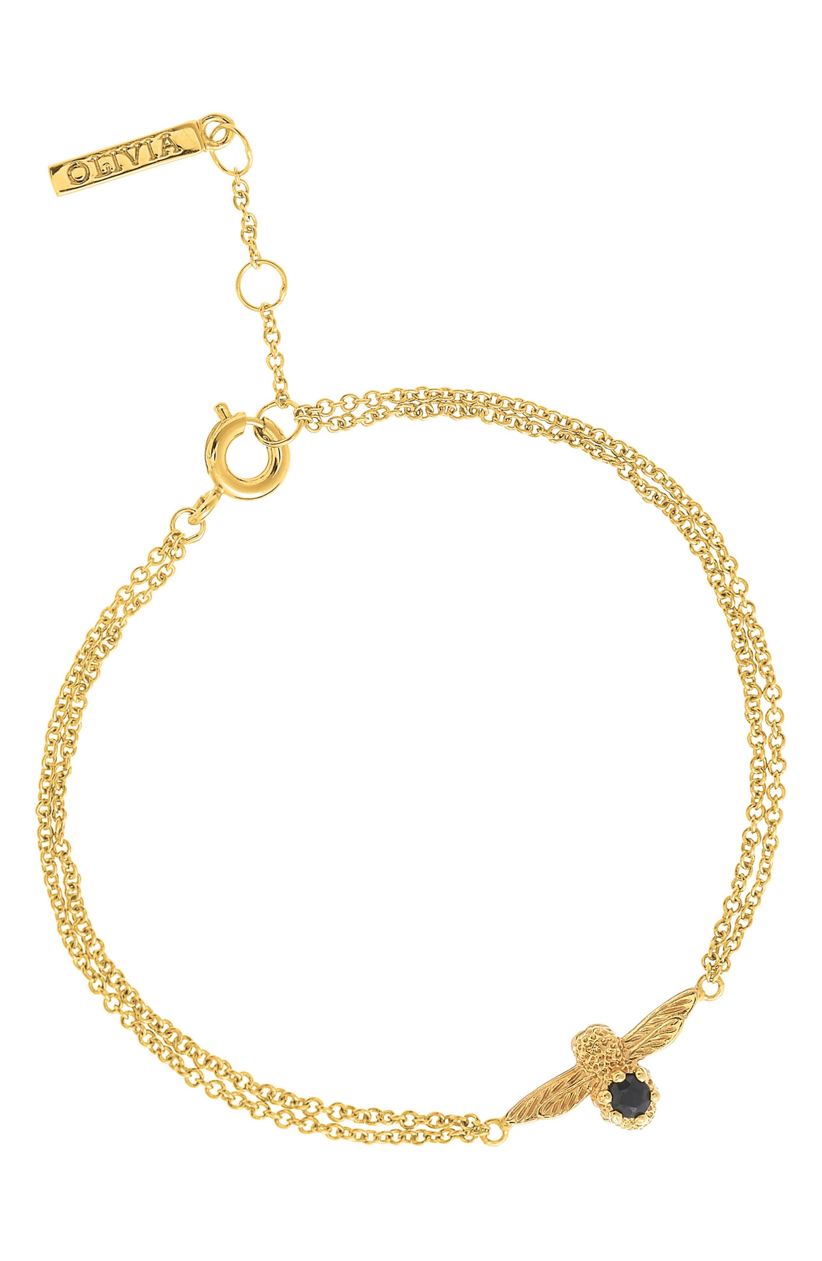 Olivia Burton 3D Bejeweled Bee Bracelet