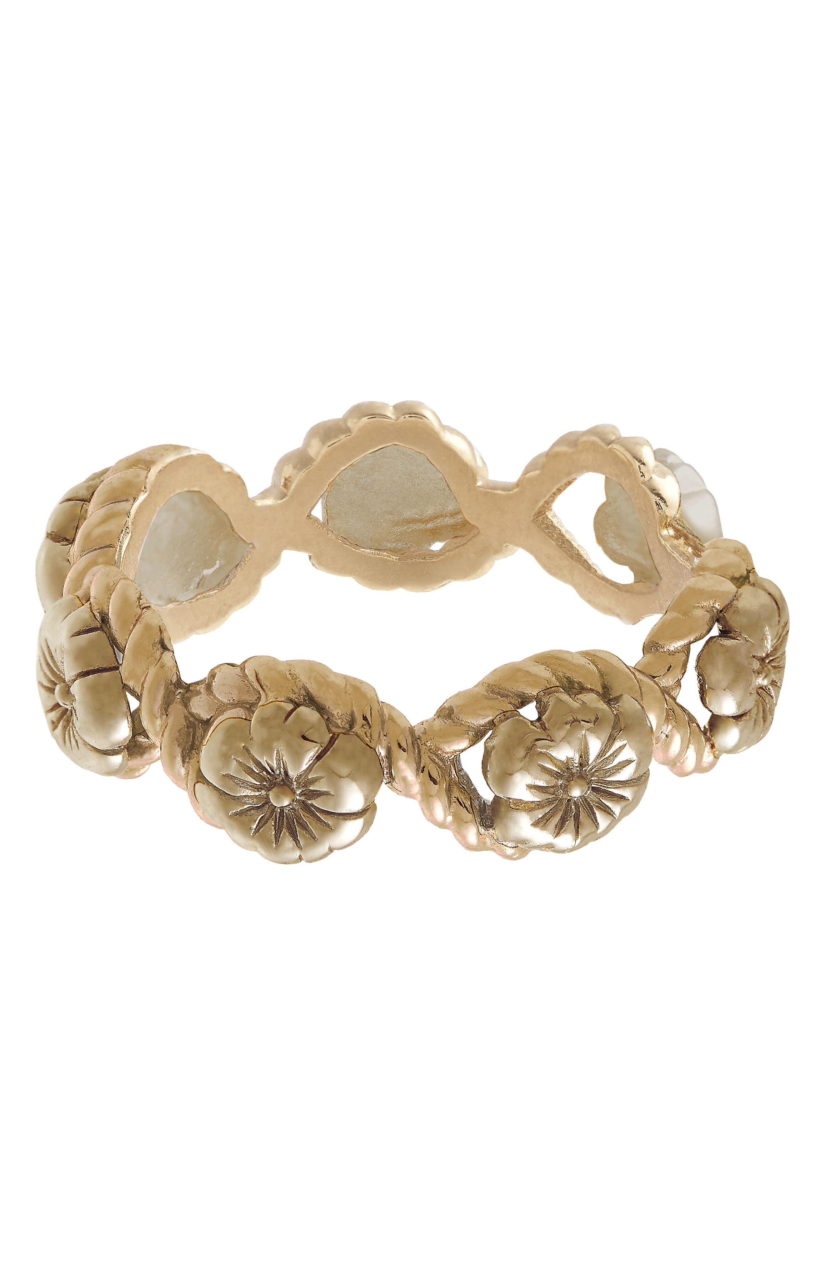 Flower Show Rope Ring, Gold