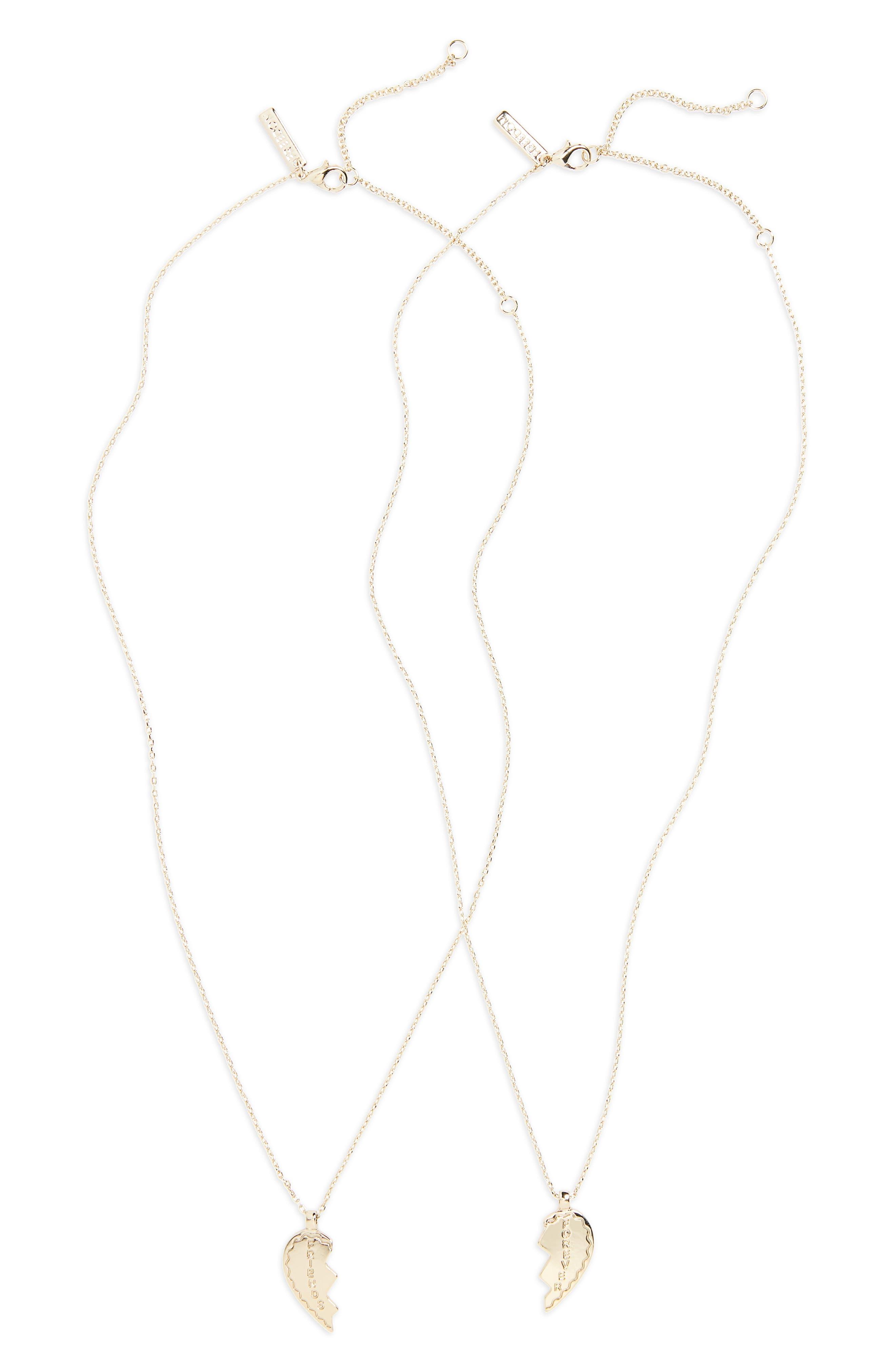 Topshop Gal Broken Heart Pendant Necklace