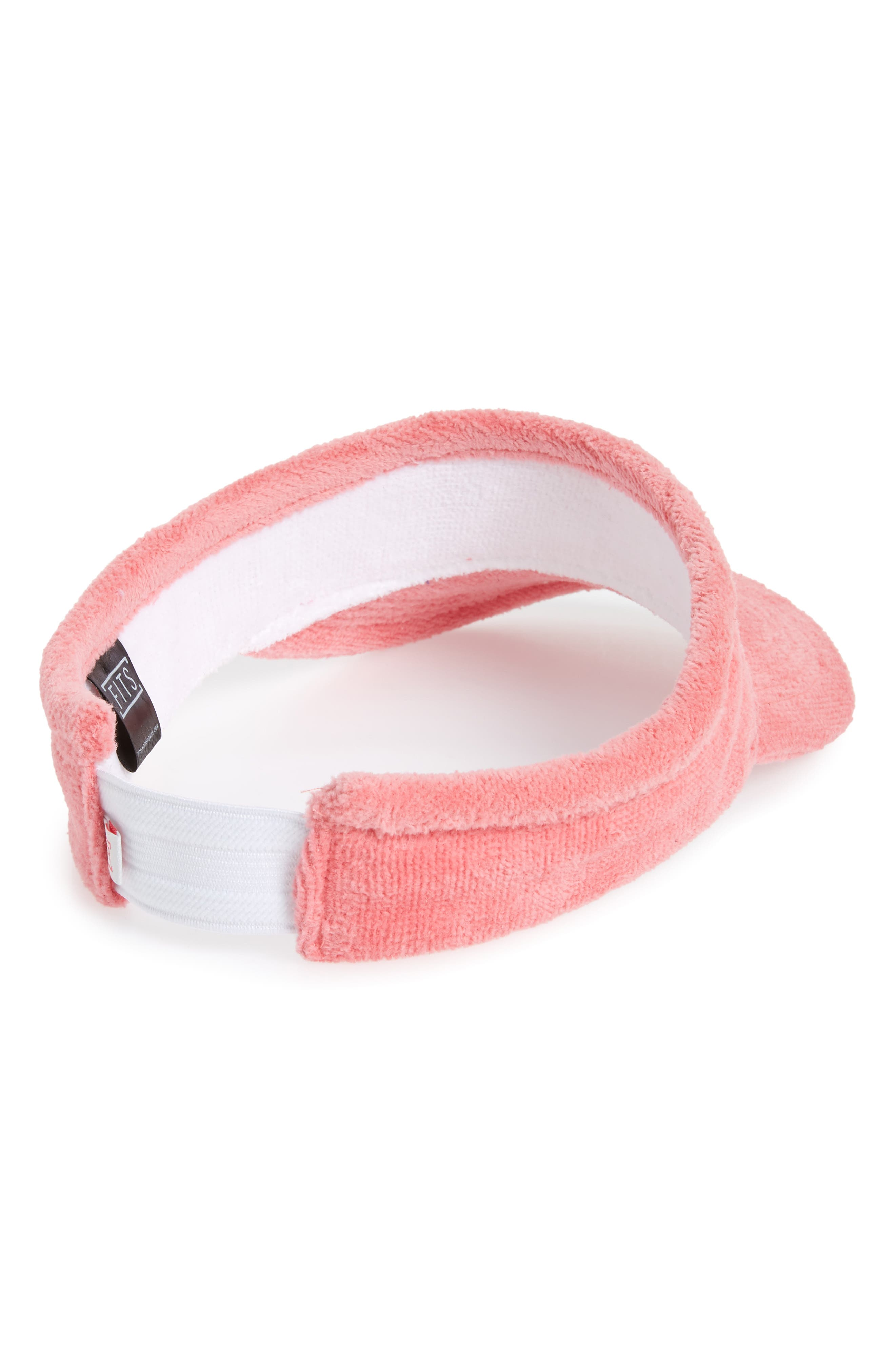 French Terry Visor,                             Alternate thumbnail 2, color,                             Dusty Pink