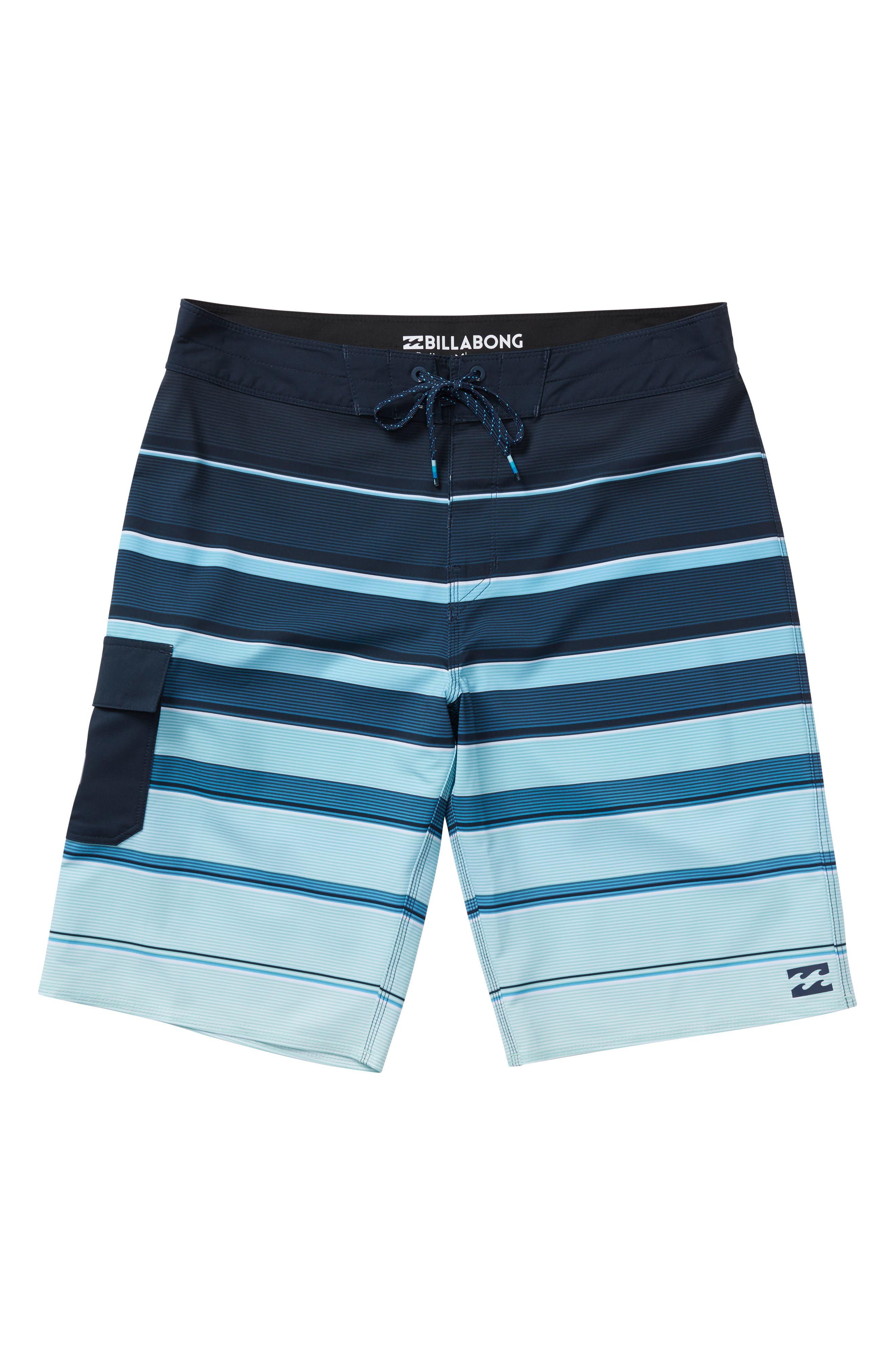 All Day X Stripe Board Shorts,                         Main,                         color, Green