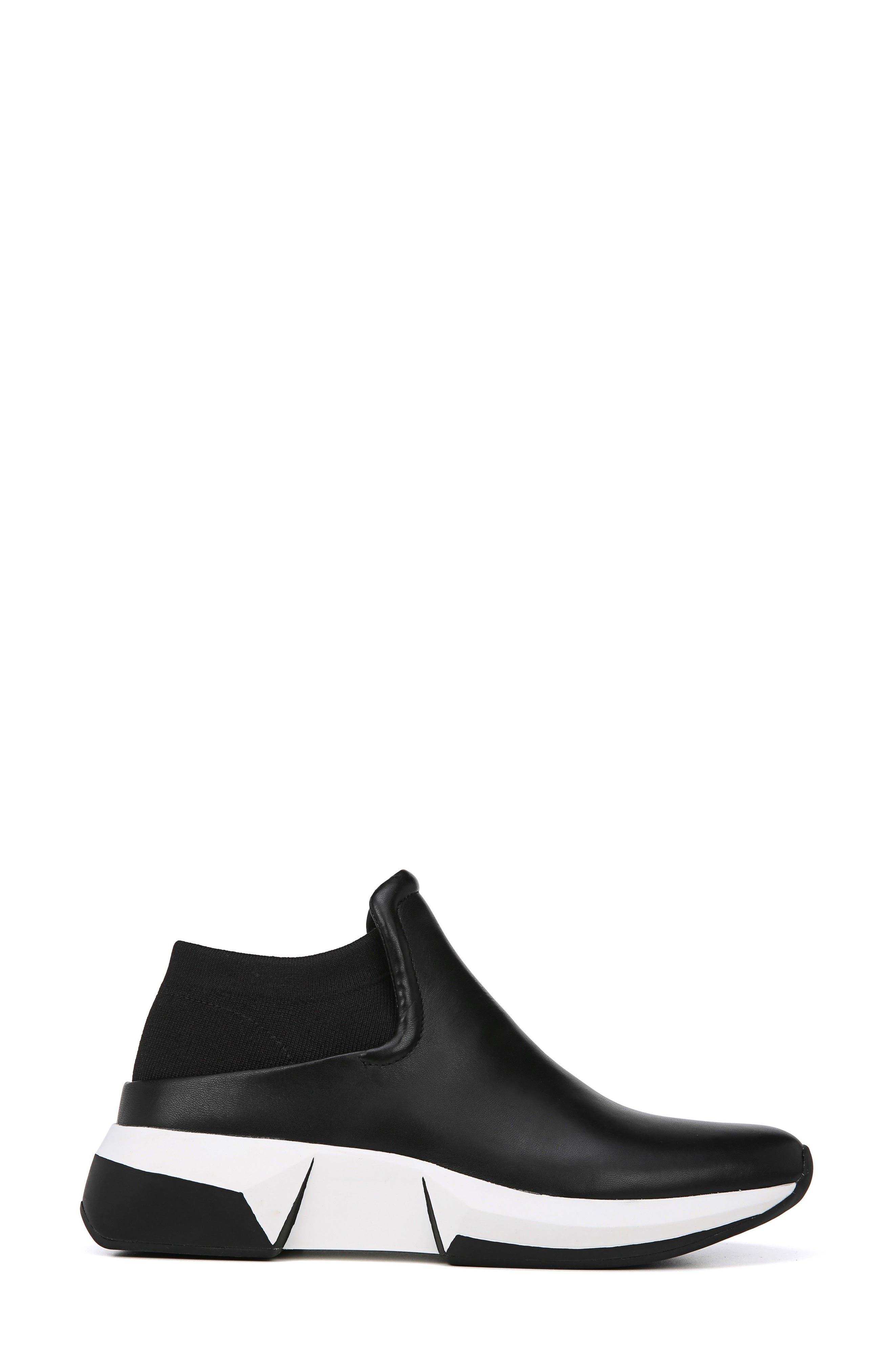 Veila Slip-On Sneaker,                             Alternate thumbnail 3, color,                             Black Leather