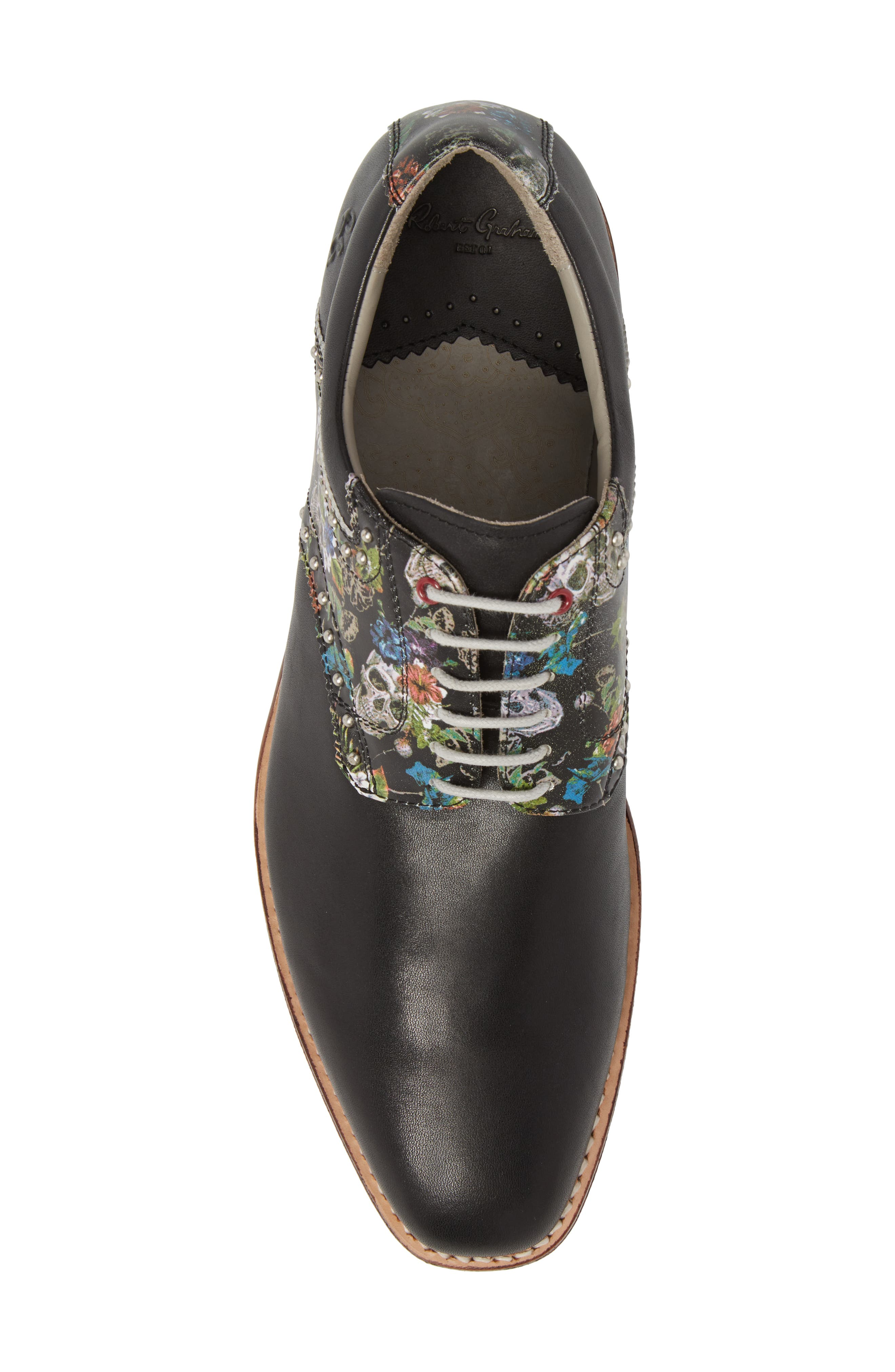 Legend Wingtip Oxford with Removable Cleats,                             Alternate thumbnail 5, color,                             Black Leather