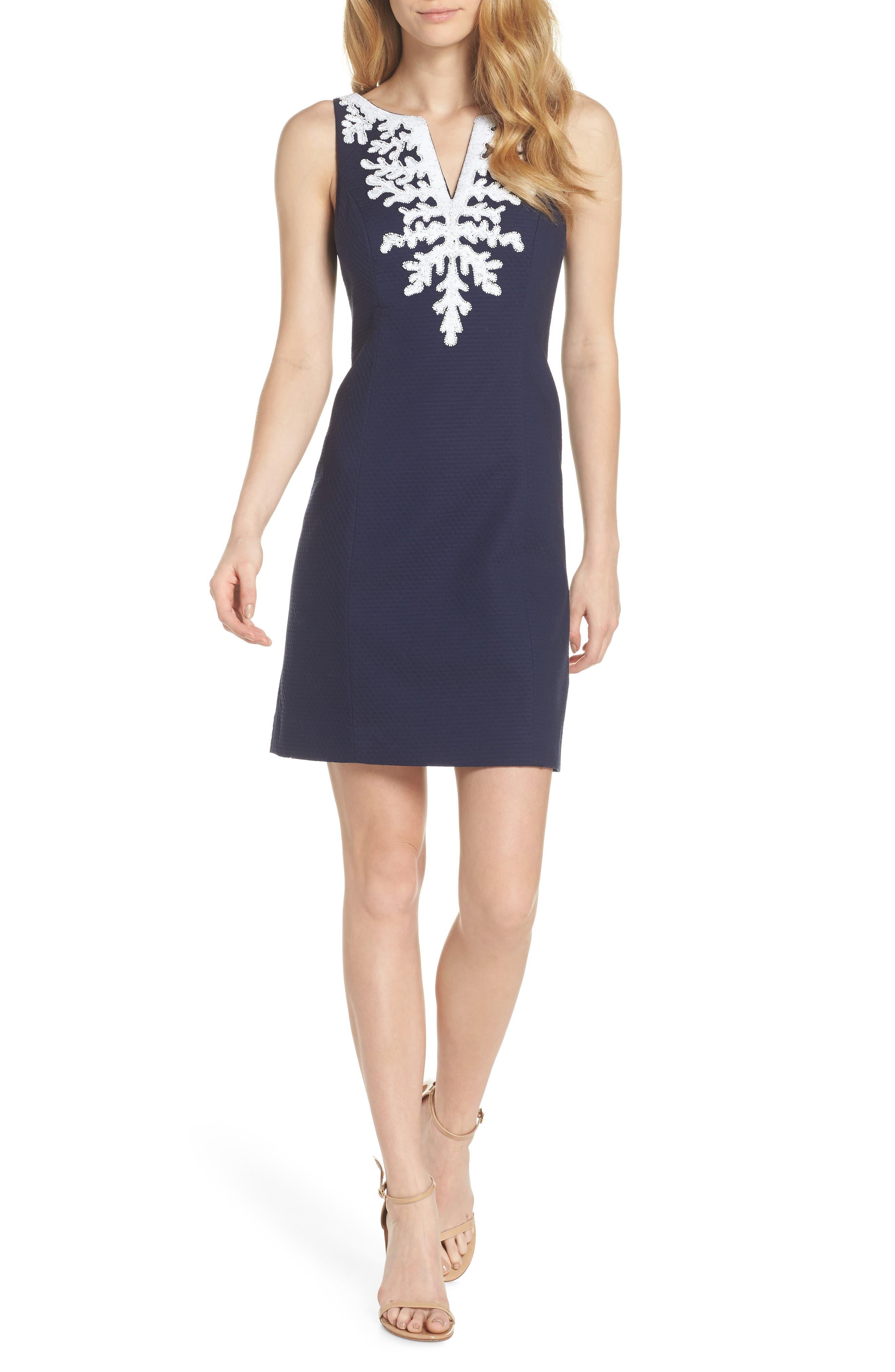 Gabby Sheath Dress,                             Main thumbnail 1, color,                             True Navy