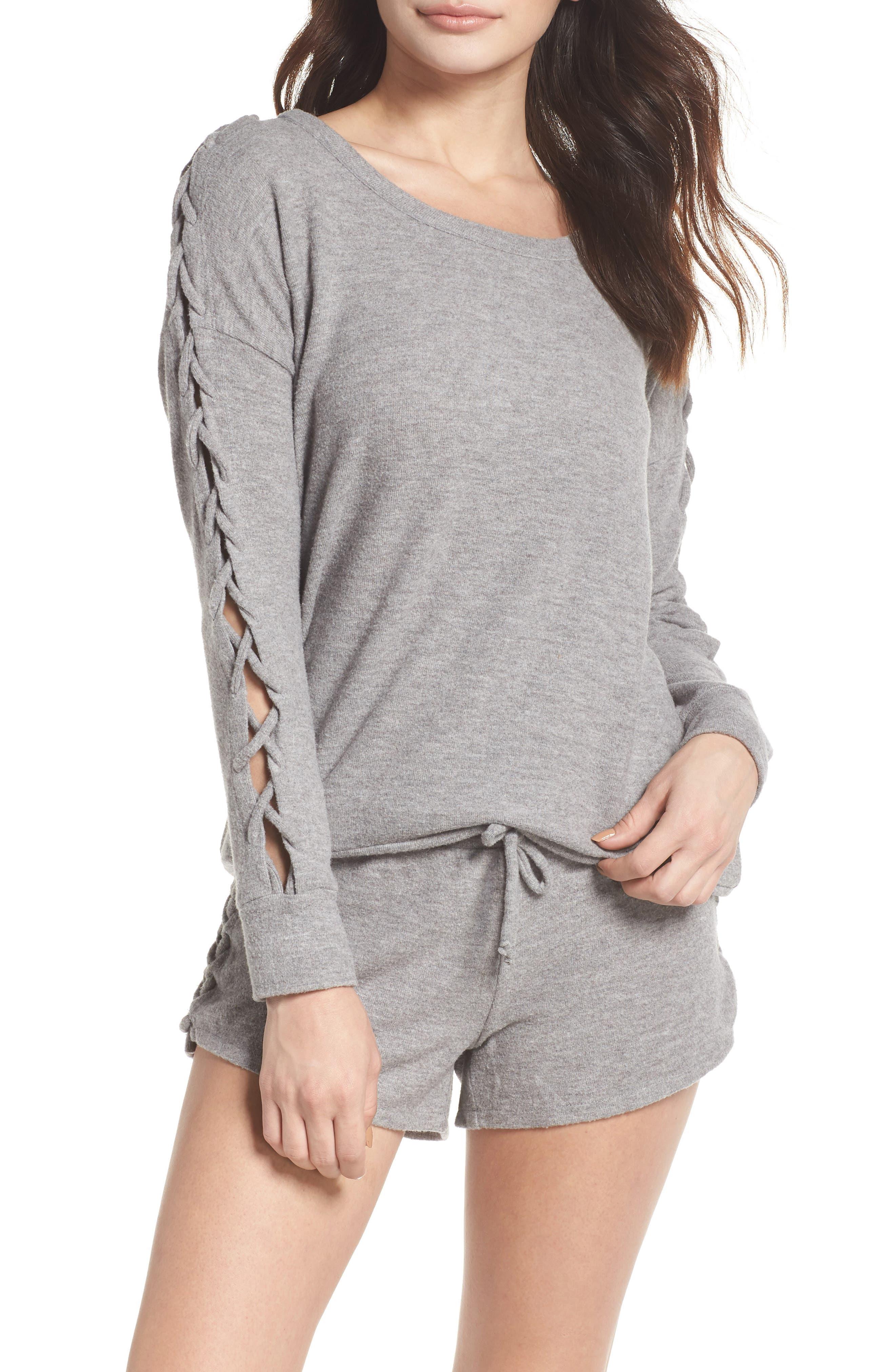 Chaser Love Lace-Up Sleeve Sweatshirt