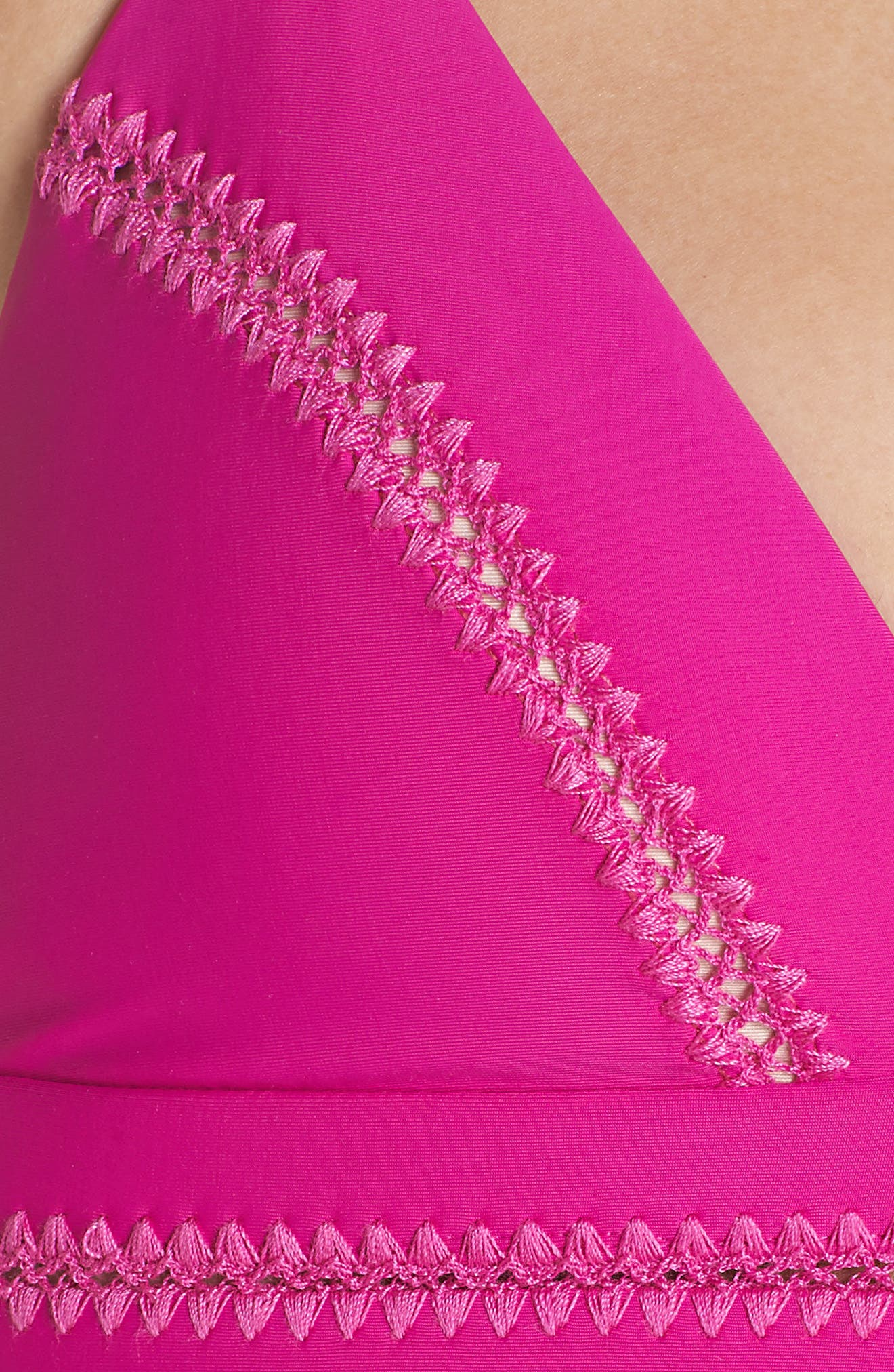 Stitched Elle Halter Bikini Top,                             Alternate thumbnail 8, color,                             Fuchsia