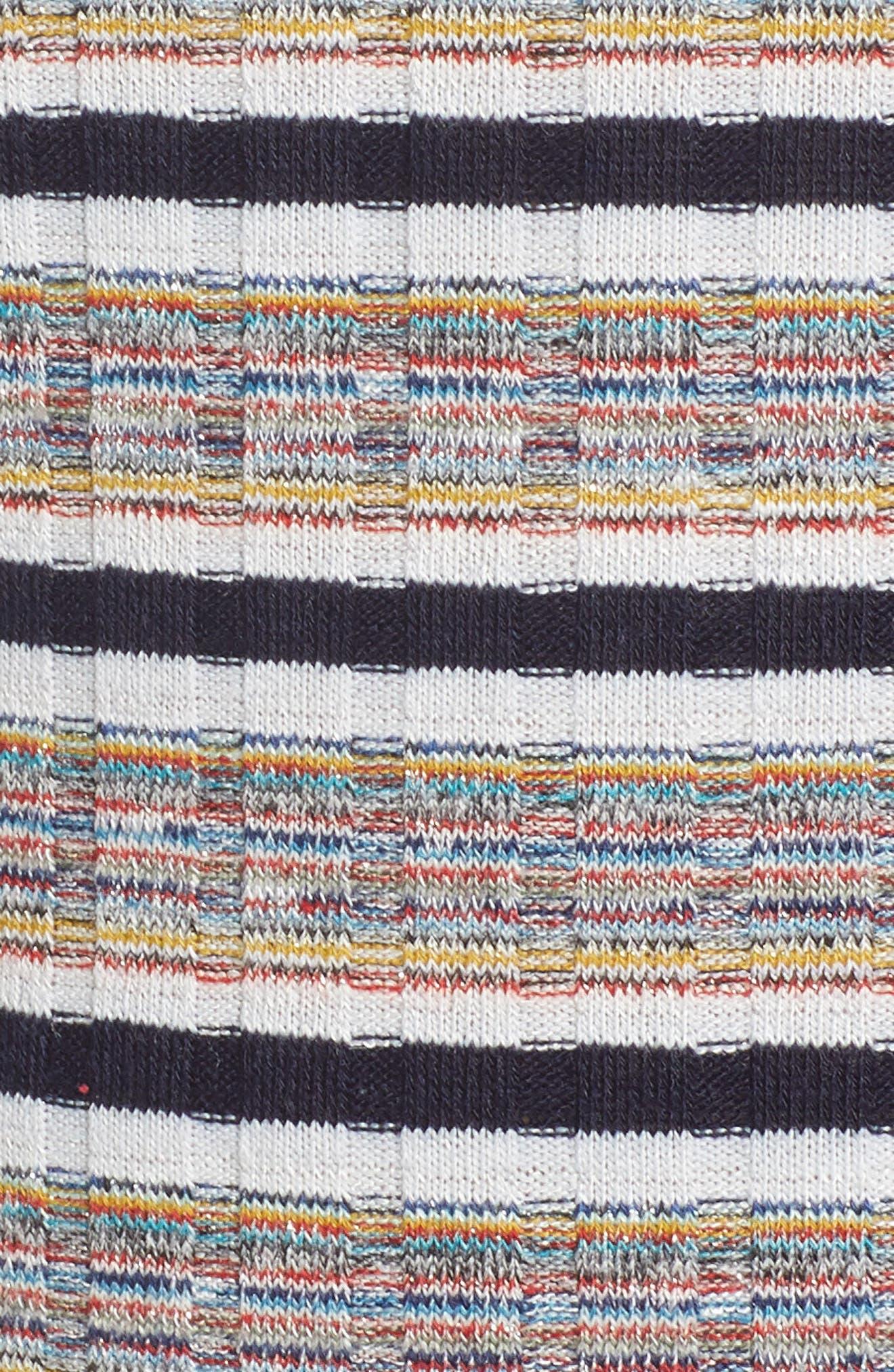 Brittney Mixed Stripe Tank,                             Alternate thumbnail 6, color,                             Ivory