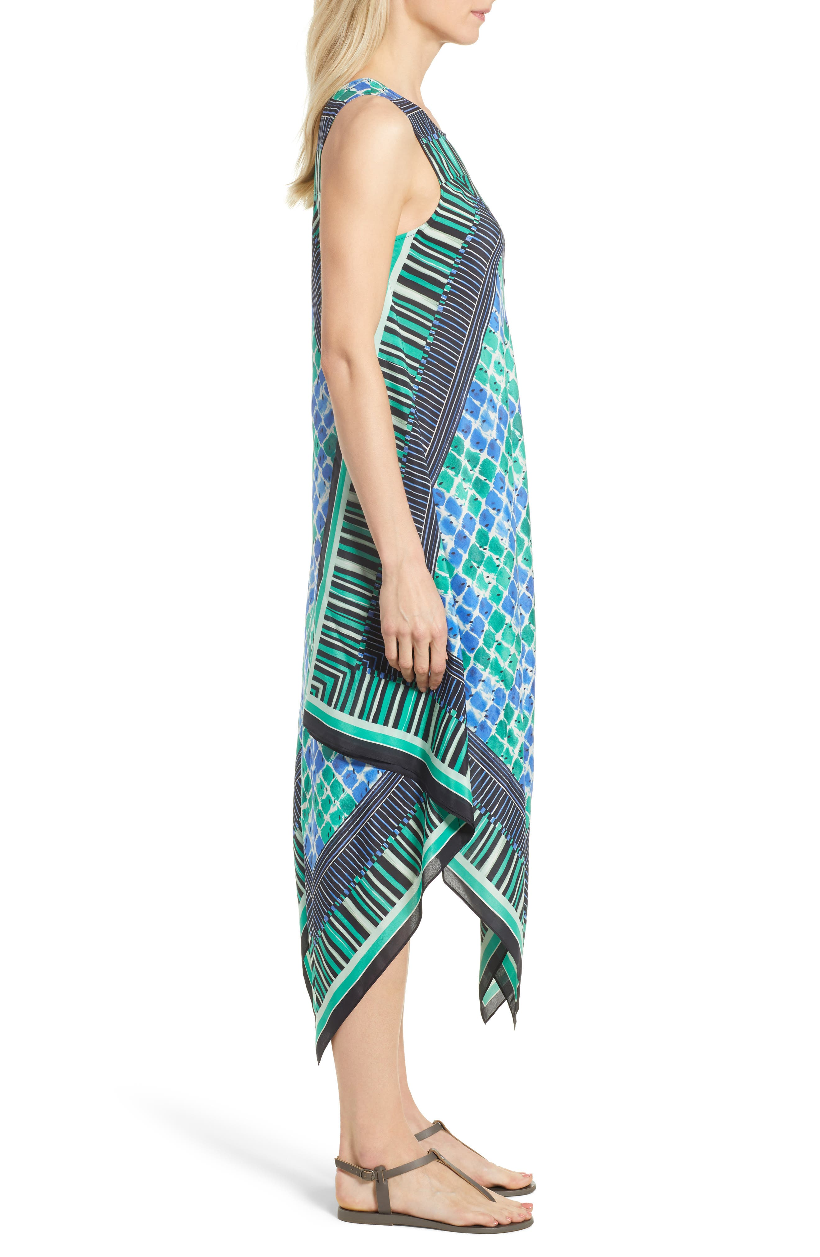 DJ VU Print Tank Dress,                             Alternate thumbnail 3, color,                             Multi