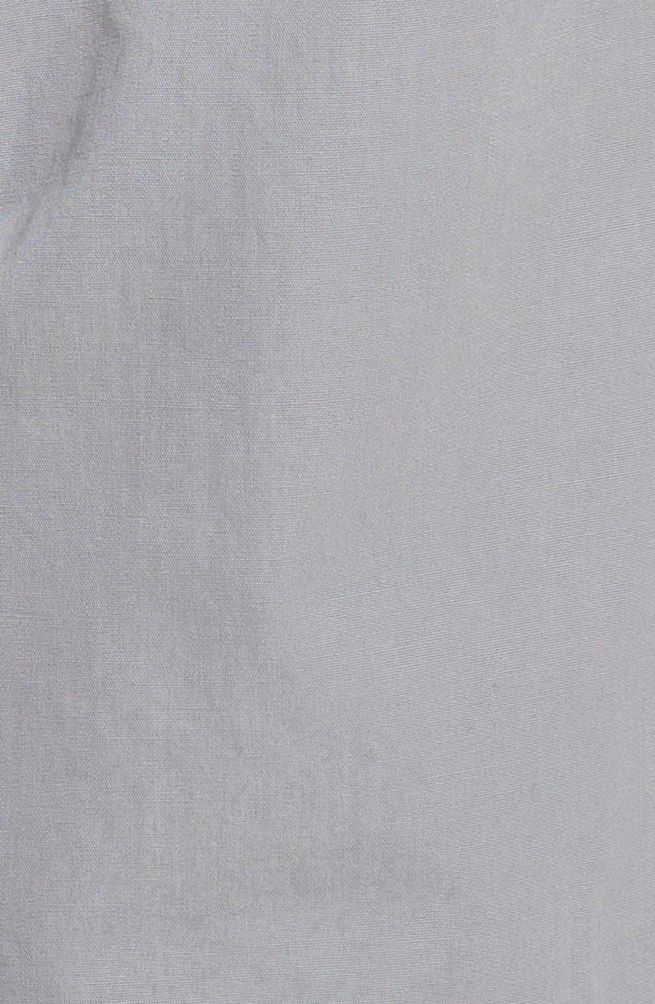 M2 Classic Fit Flat Front Tropical Cotton Poplin Pants,                             Alternate thumbnail 5, color,                             Nickel