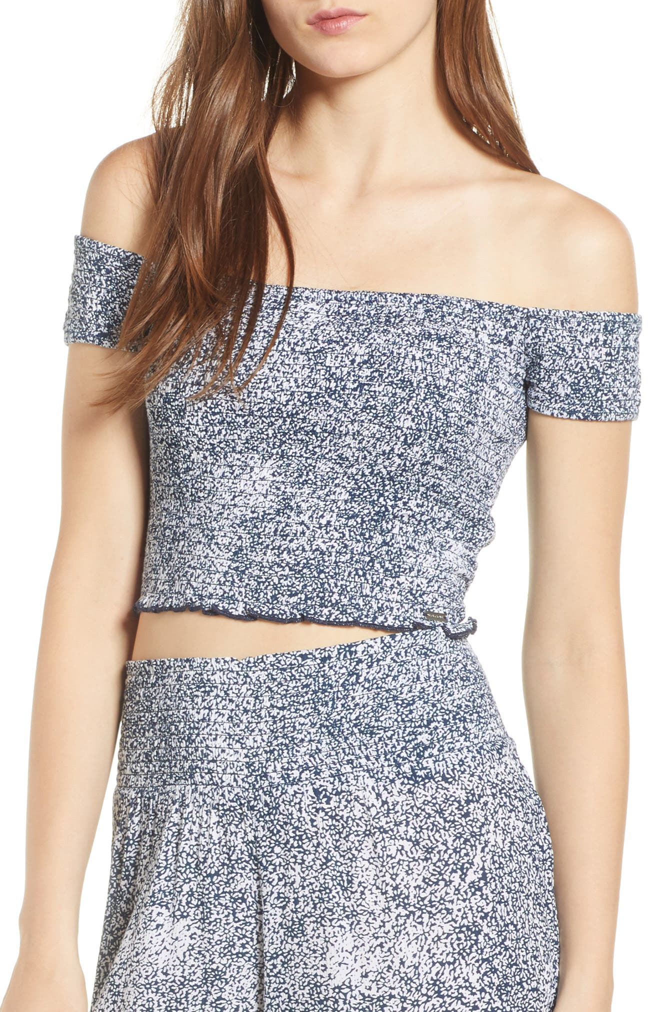 Volcom She's So Daisy Off the Shoulder Top