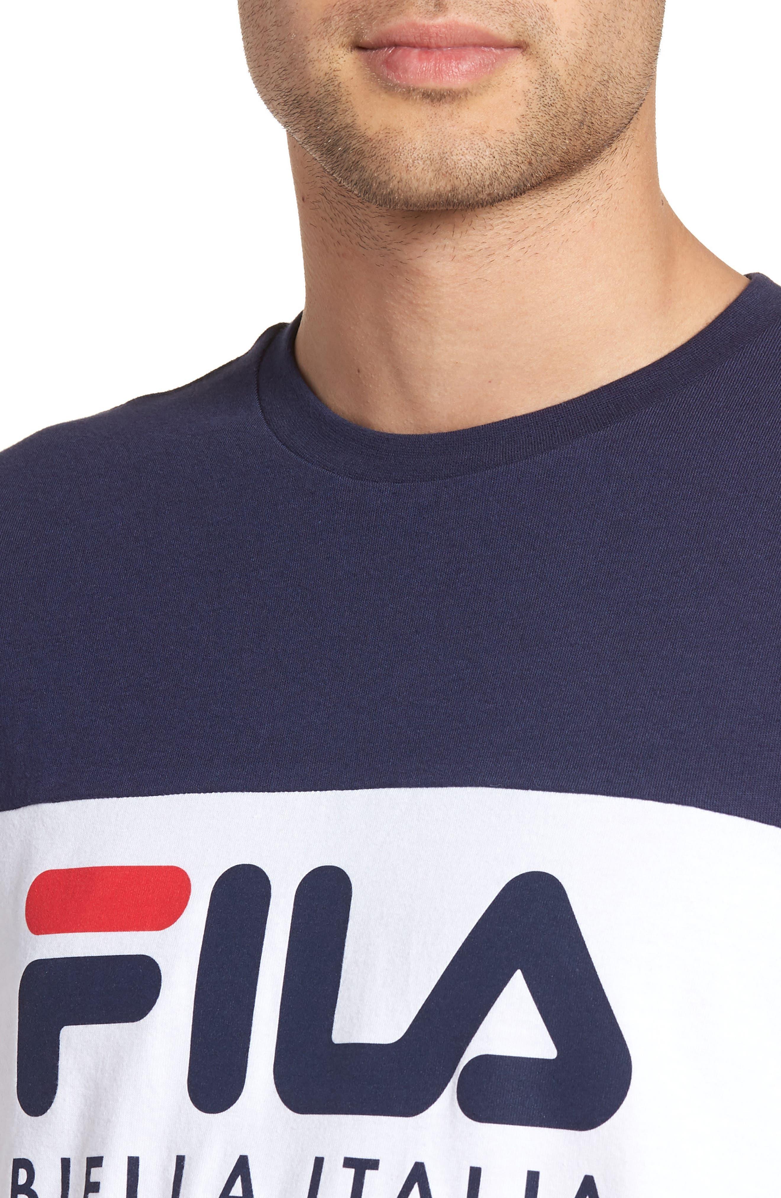 Biella Italia T-Shirt,                             Alternate thumbnail 4, color,                             Navy/ White/ Red
