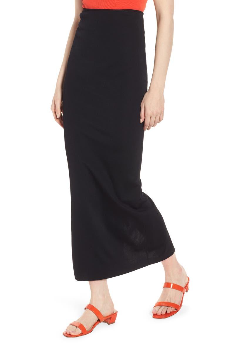 Compact Knit Maxi Skirt
