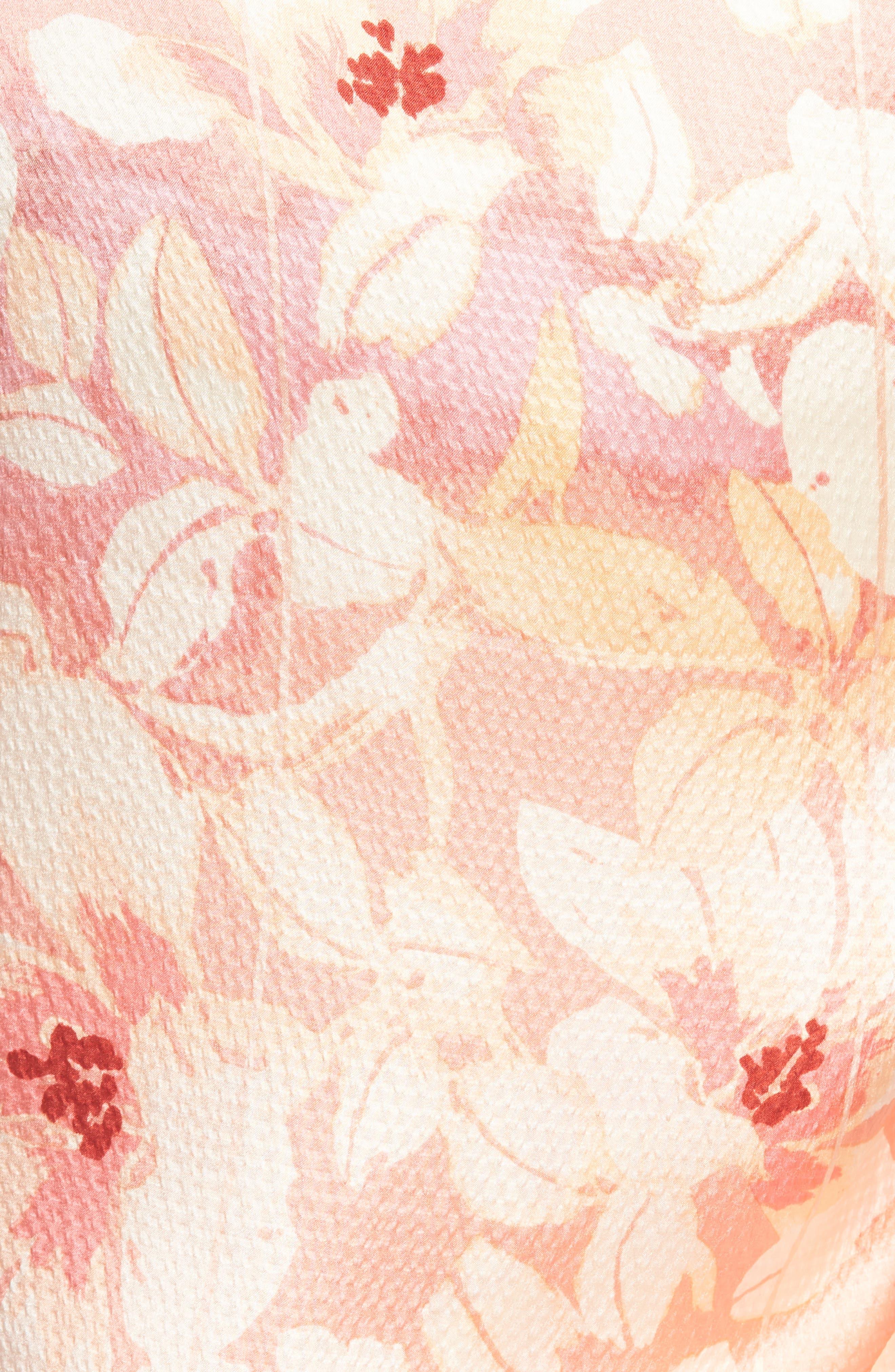Silk Shrug Kimono,                             Alternate thumbnail 5, color,                             Pink Jardin Secret