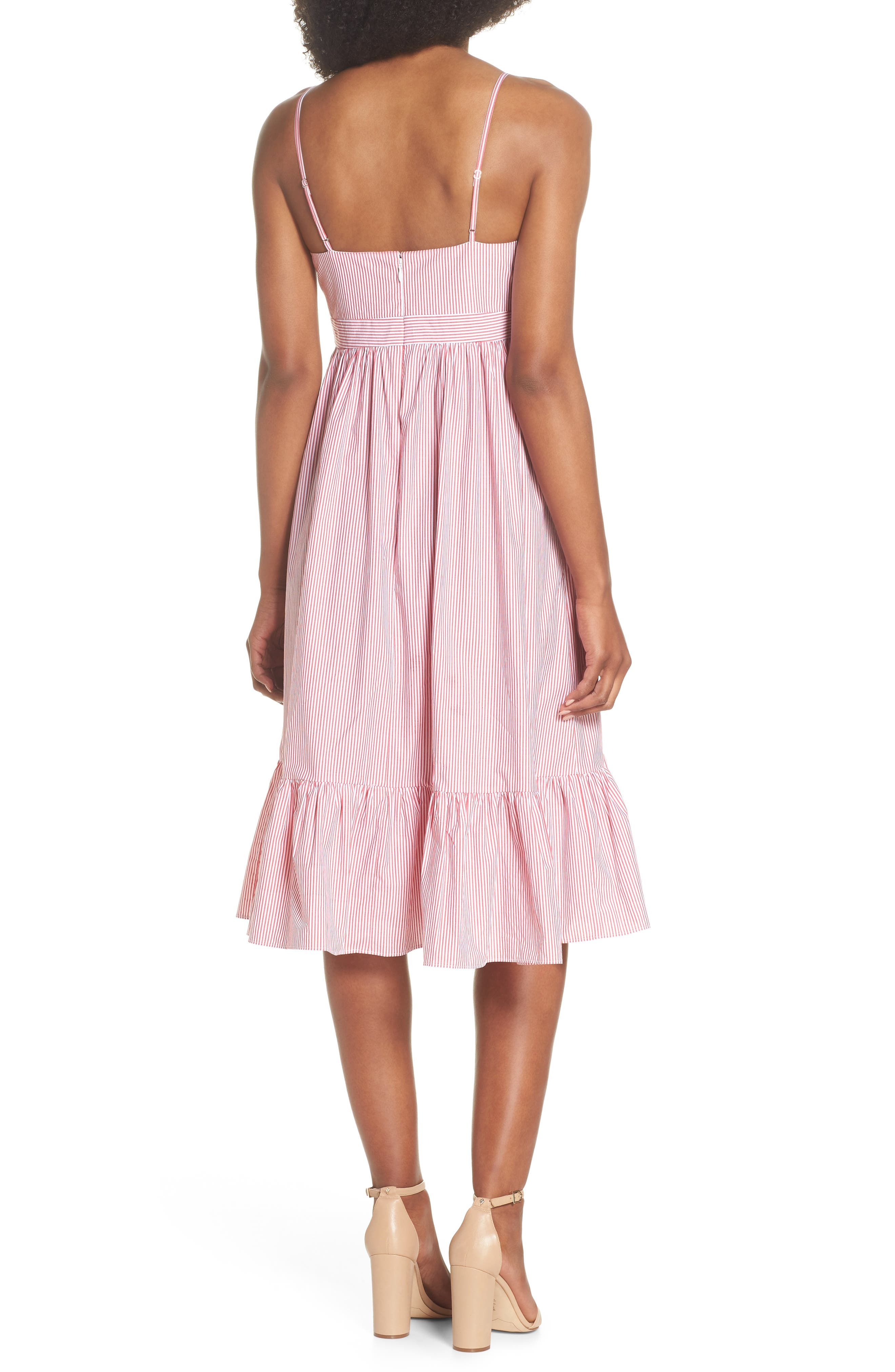 Drapey Spaghetti Strap Dress,                             Alternate thumbnail 2, color,                             Providence Red