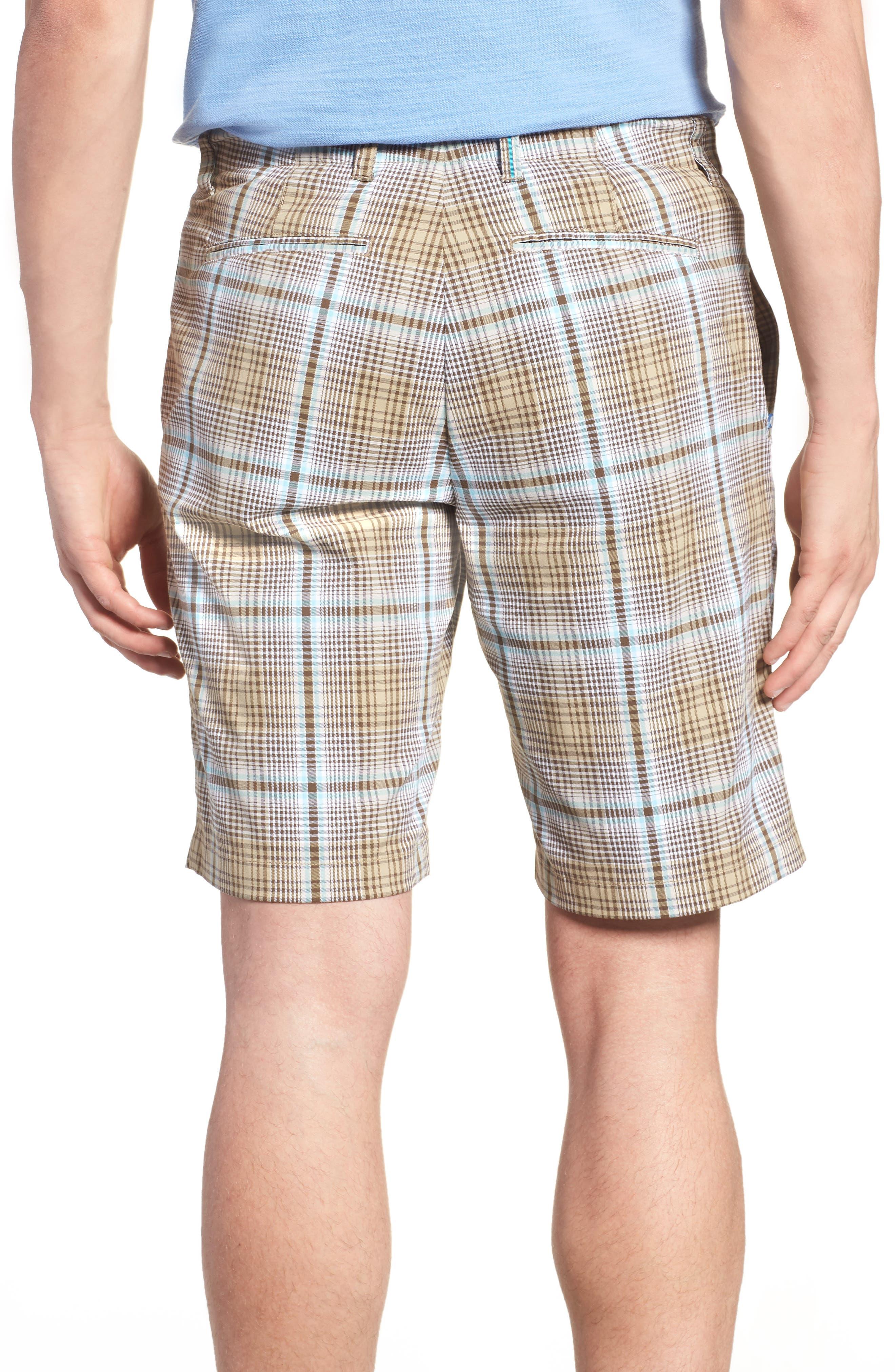 Playa Tech Classic Fit Plaid Shorts,                             Alternate thumbnail 2, color,                             Khaki Sands