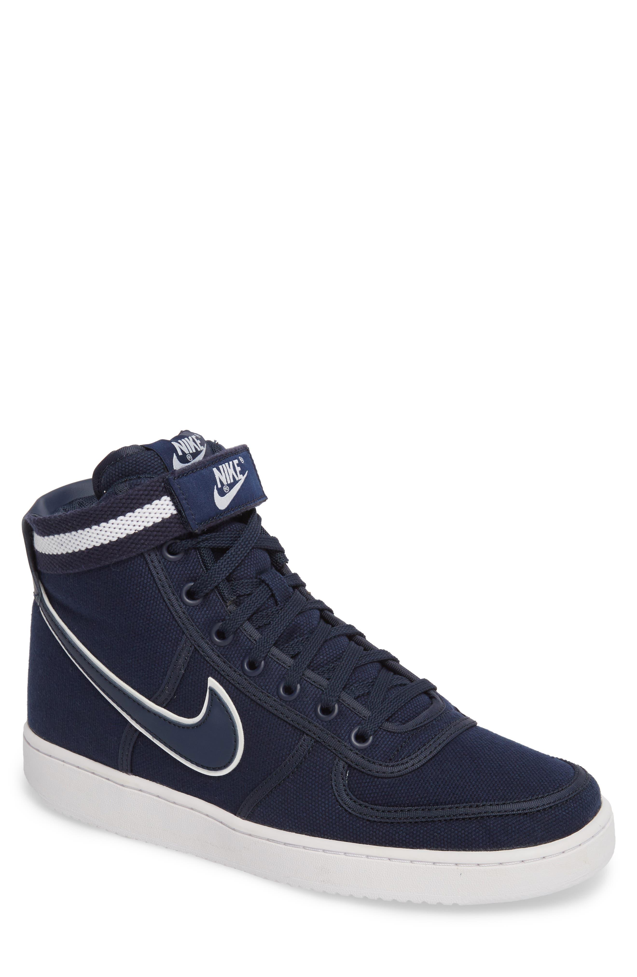 Vandal High Supreme High Top Sneaker,                         Main,                         color, Obsidian/ White