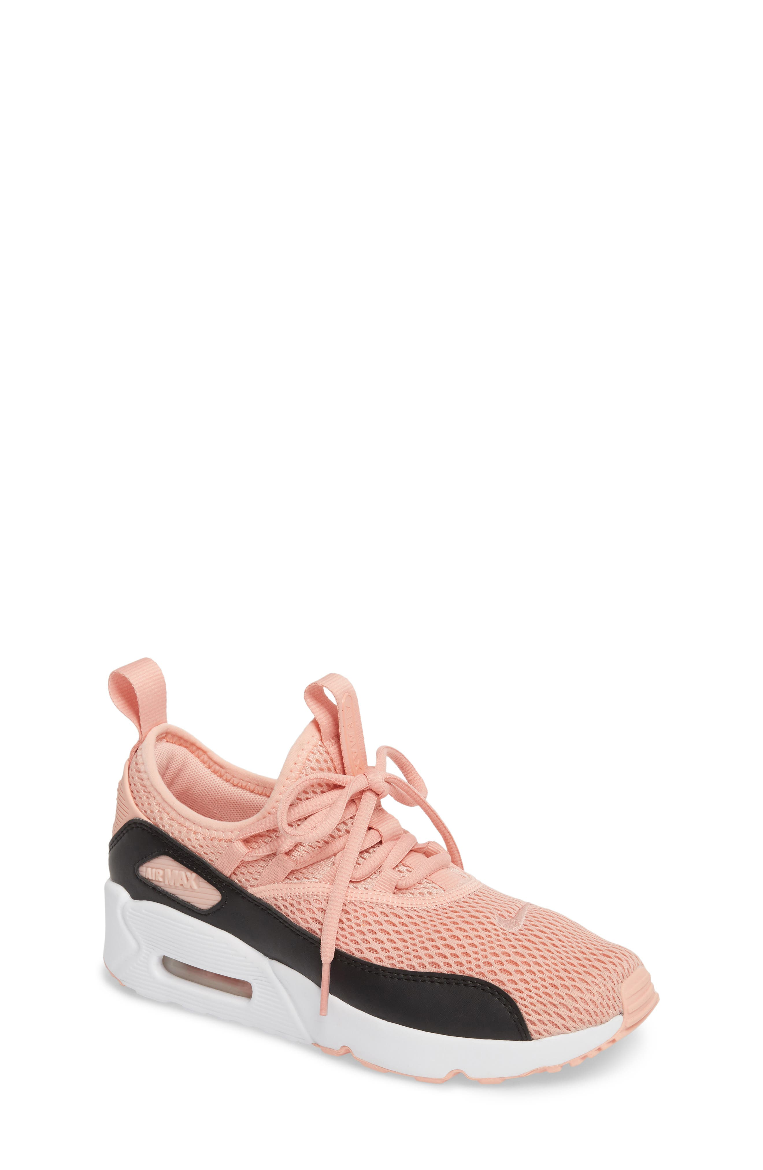 Air Max 90 EZ Sneaker,                             Main thumbnail 1, color,                             Coral Stardust/ Black