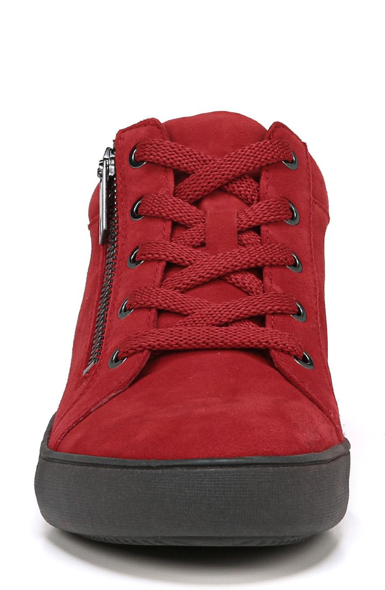 Motley Sneaker,                             Alternate thumbnail 4, color,                             Hot Sauce Suede