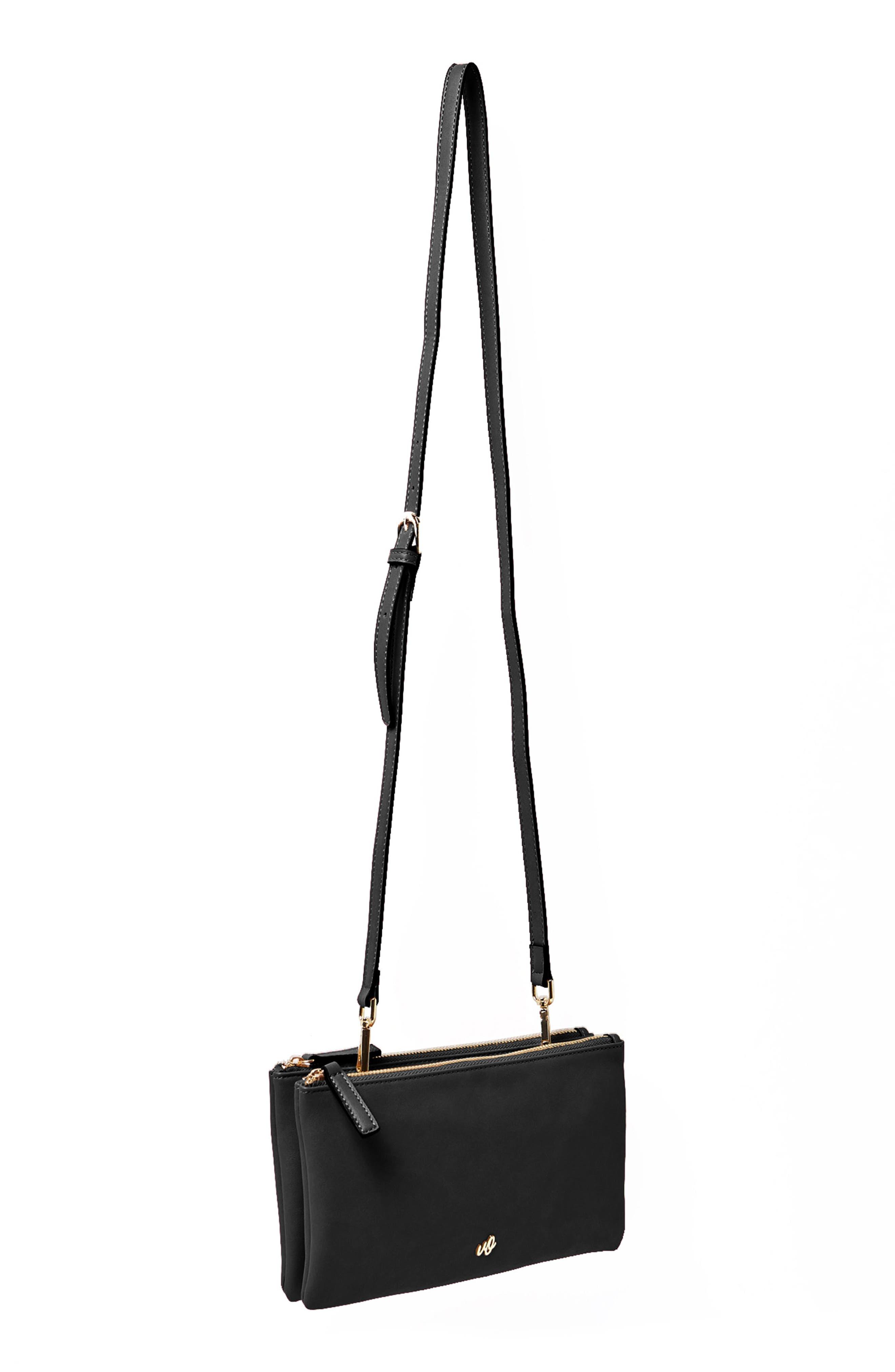 The Enchanted Vegan Leather Crossbody Bag,                             Alternate thumbnail 2, color,                             Black