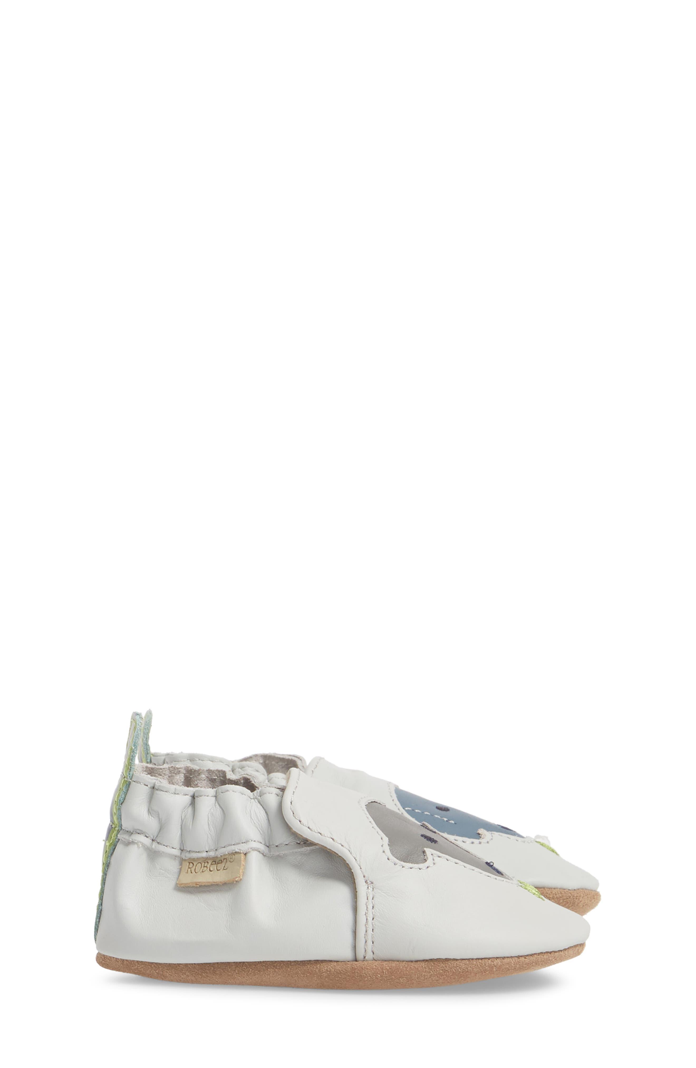 Dog Buddies Moccasin Crib Shoe,                             Alternate thumbnail 4, color,                             Light Grey