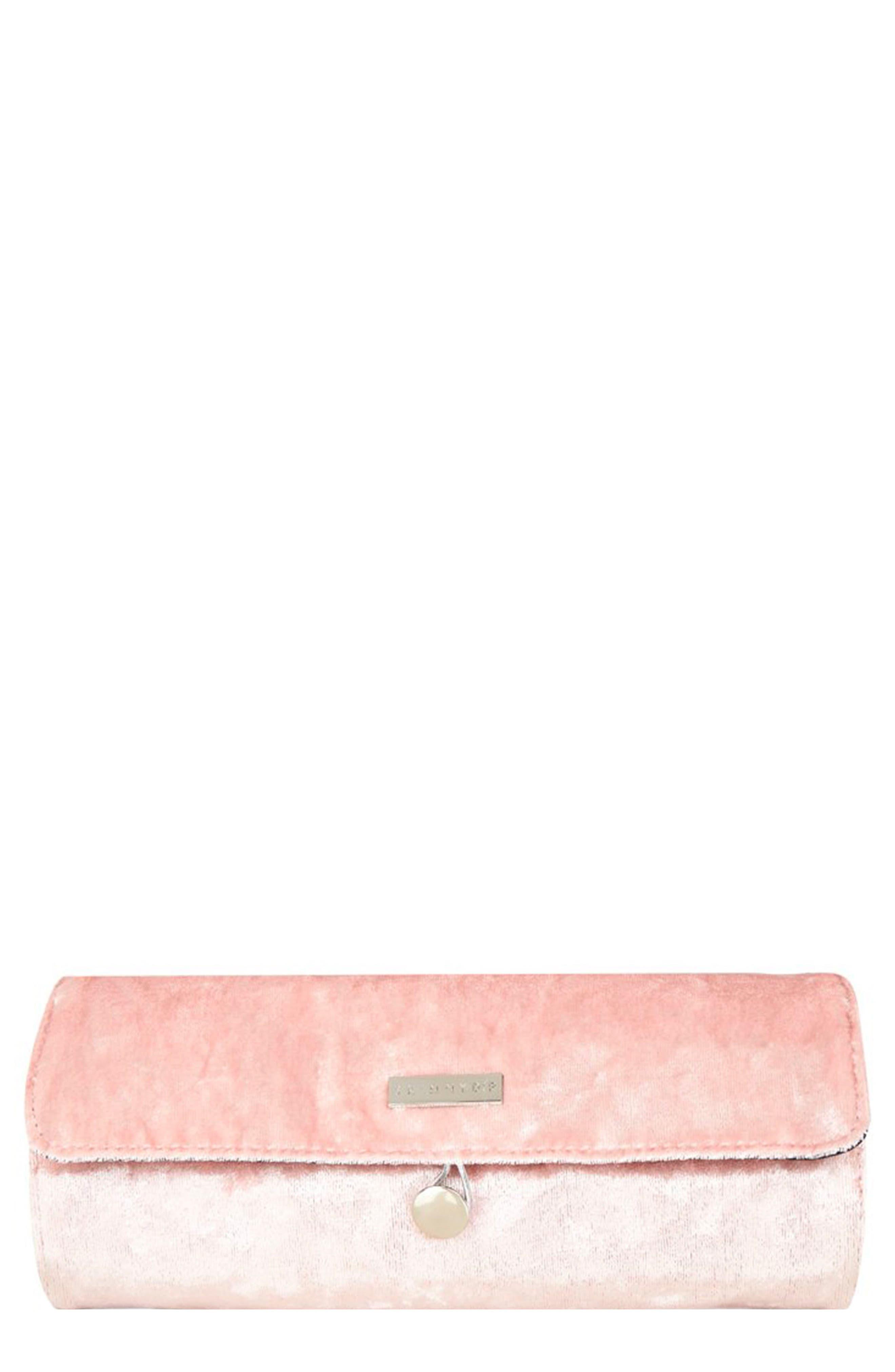 Skinny Dip Pink Velvet Brush Roll