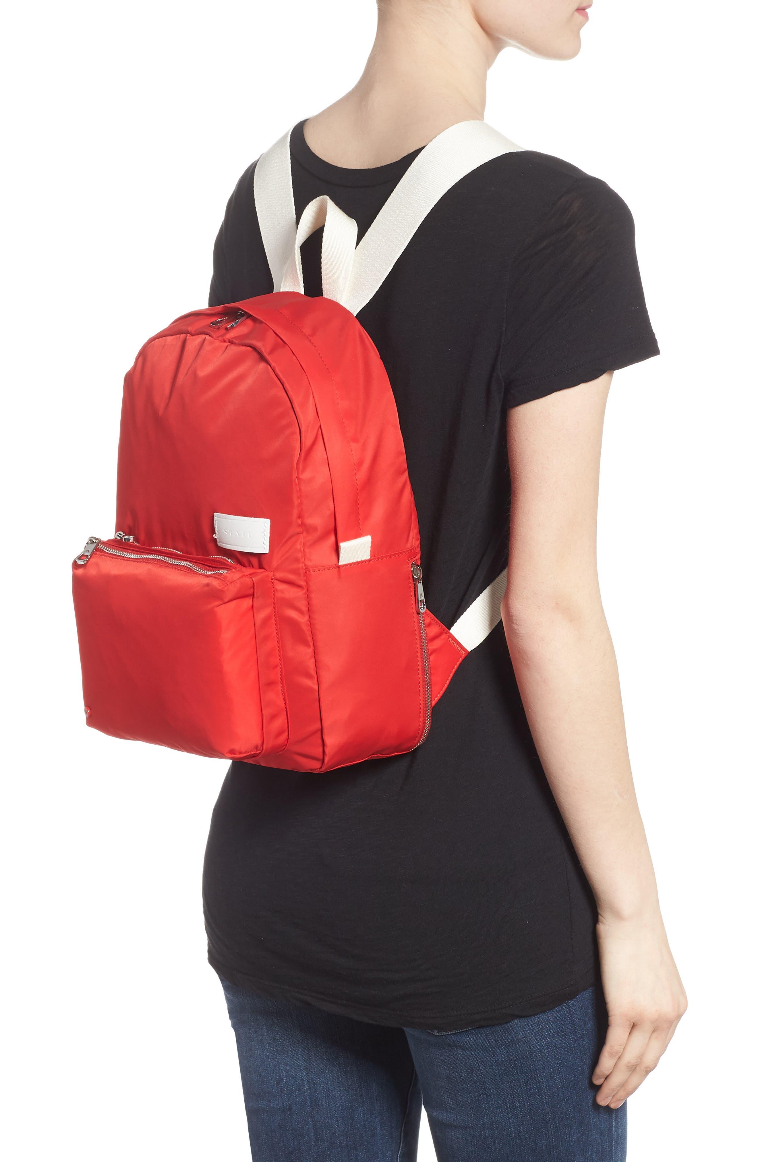The Heights Mini Lorimer Nylon Backpack,                             Alternate thumbnail 2, color,                             Red