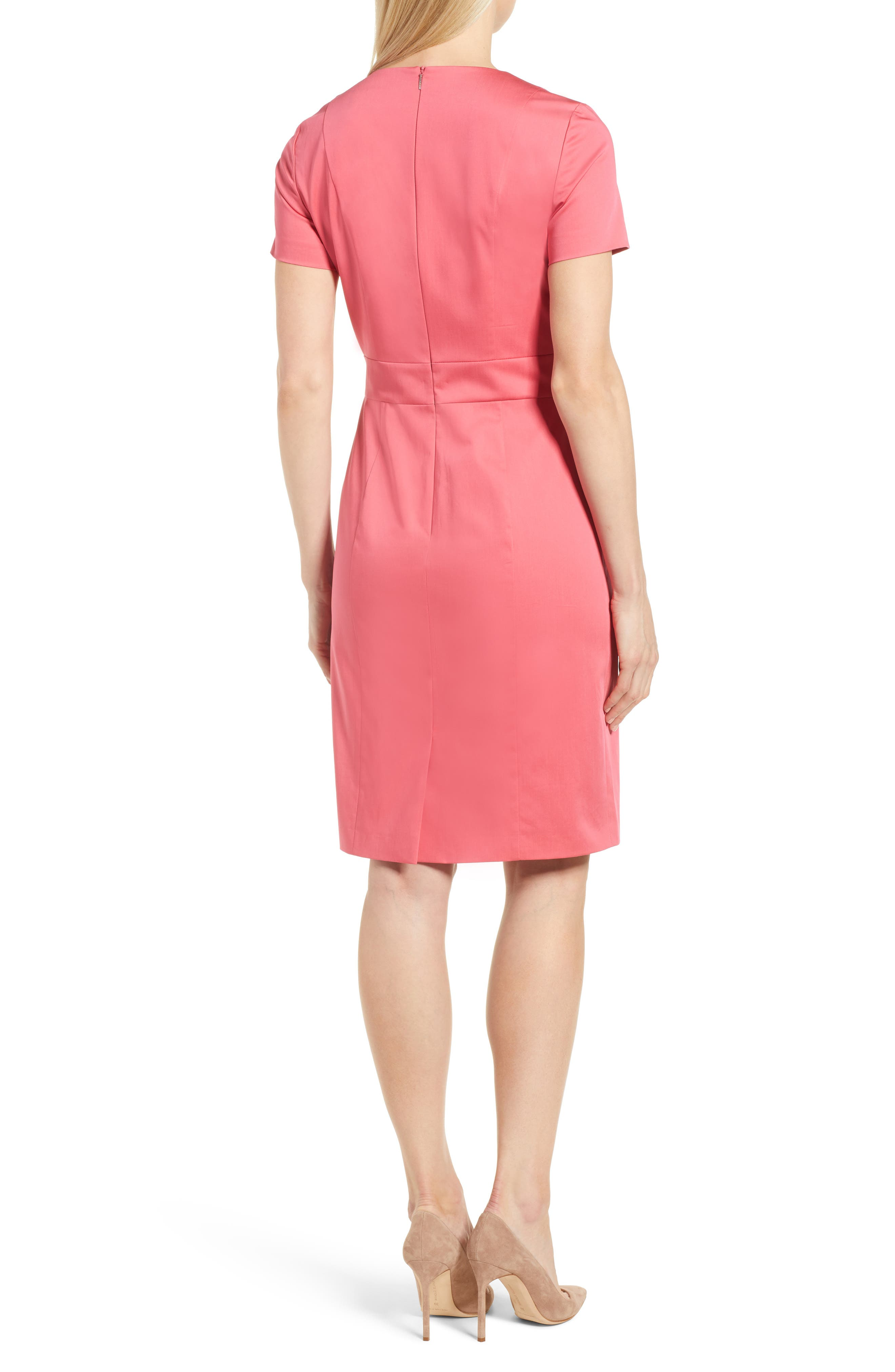 Dasali V-Neck Sheath Dress,                             Alternate thumbnail 2, color,                             Lychee Pink