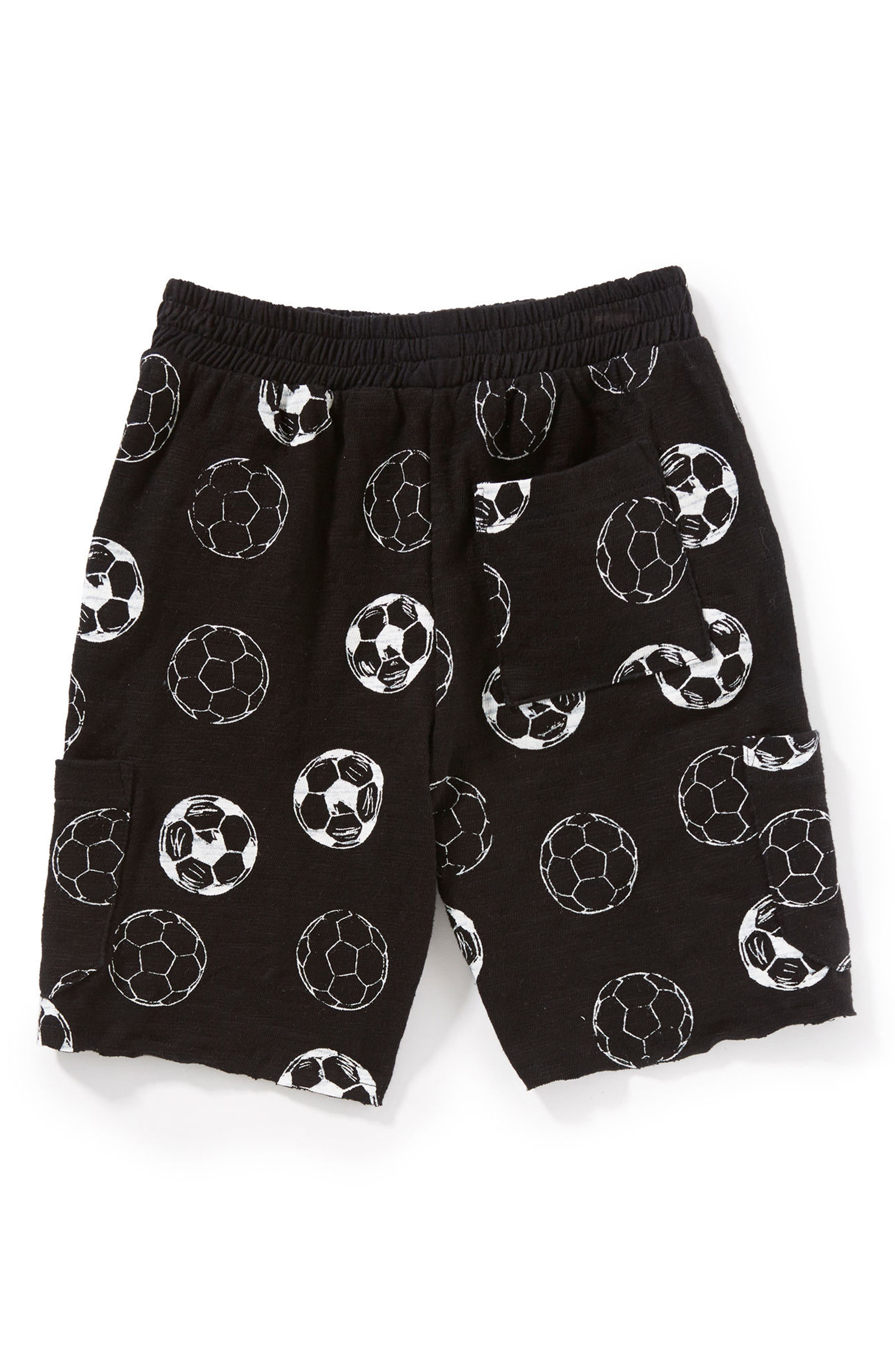 Soccer Ball Shorts,                             Alternate thumbnail 2, color,                             Black