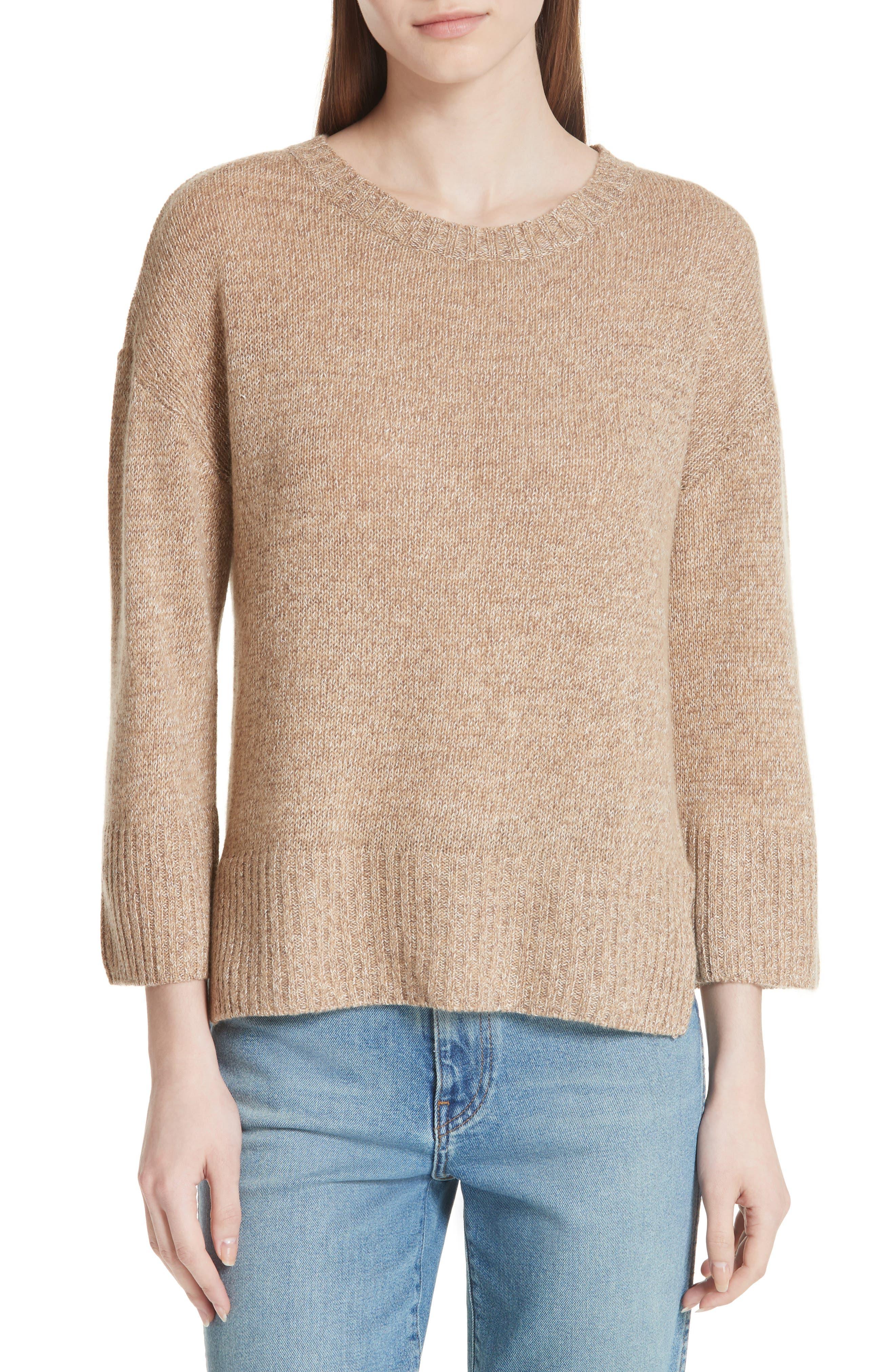 Keyhole Back Sweater,                             Main thumbnail 1, color,                             Camel