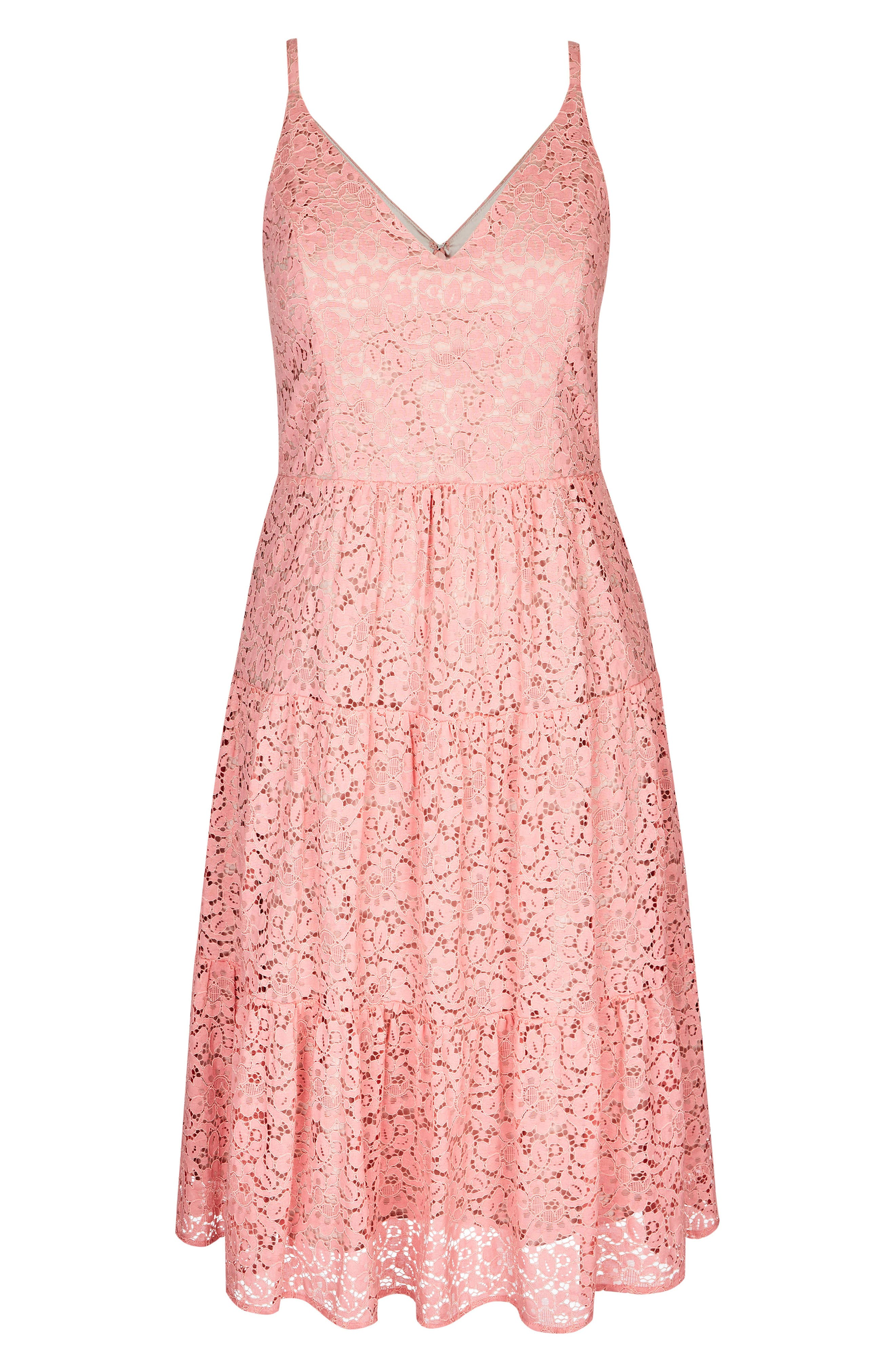 Sweet Kiss Dress,                             Alternate thumbnail 3, color,                             Pout