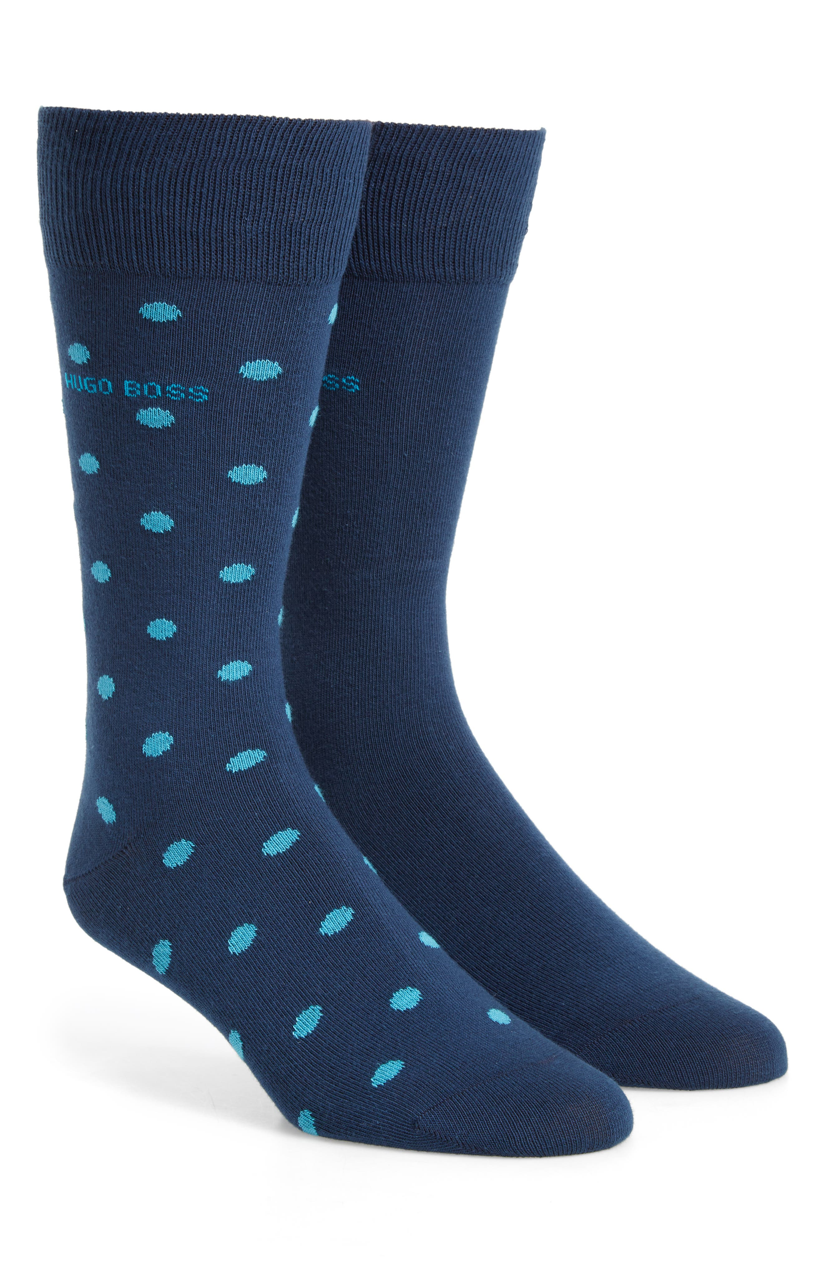 Dot Socks,                         Main,                         color, Blue