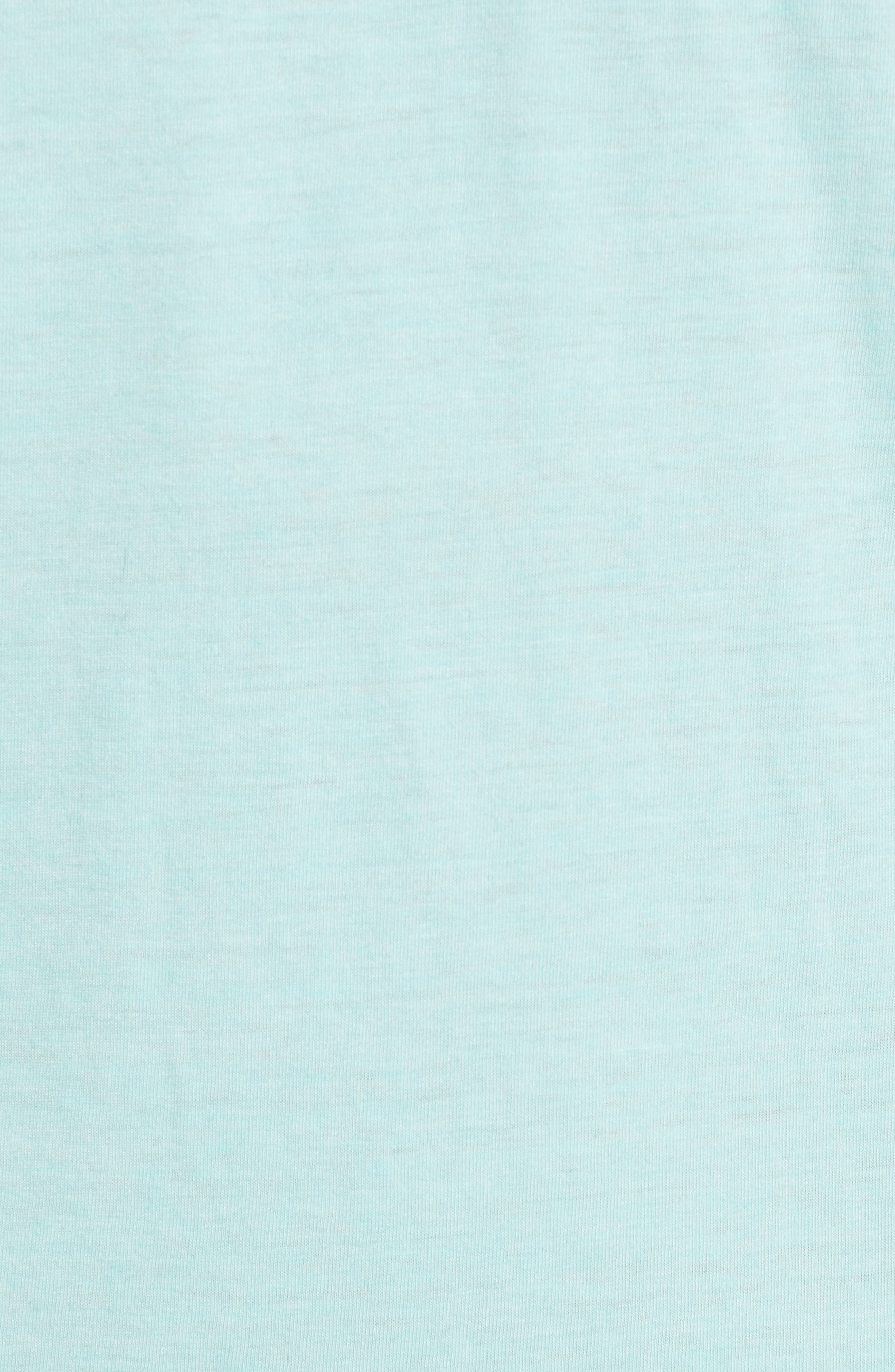 Scallop Triblend V-Neck T-Shirt,                             Alternate thumbnail 5, color,                             Aqua Sky