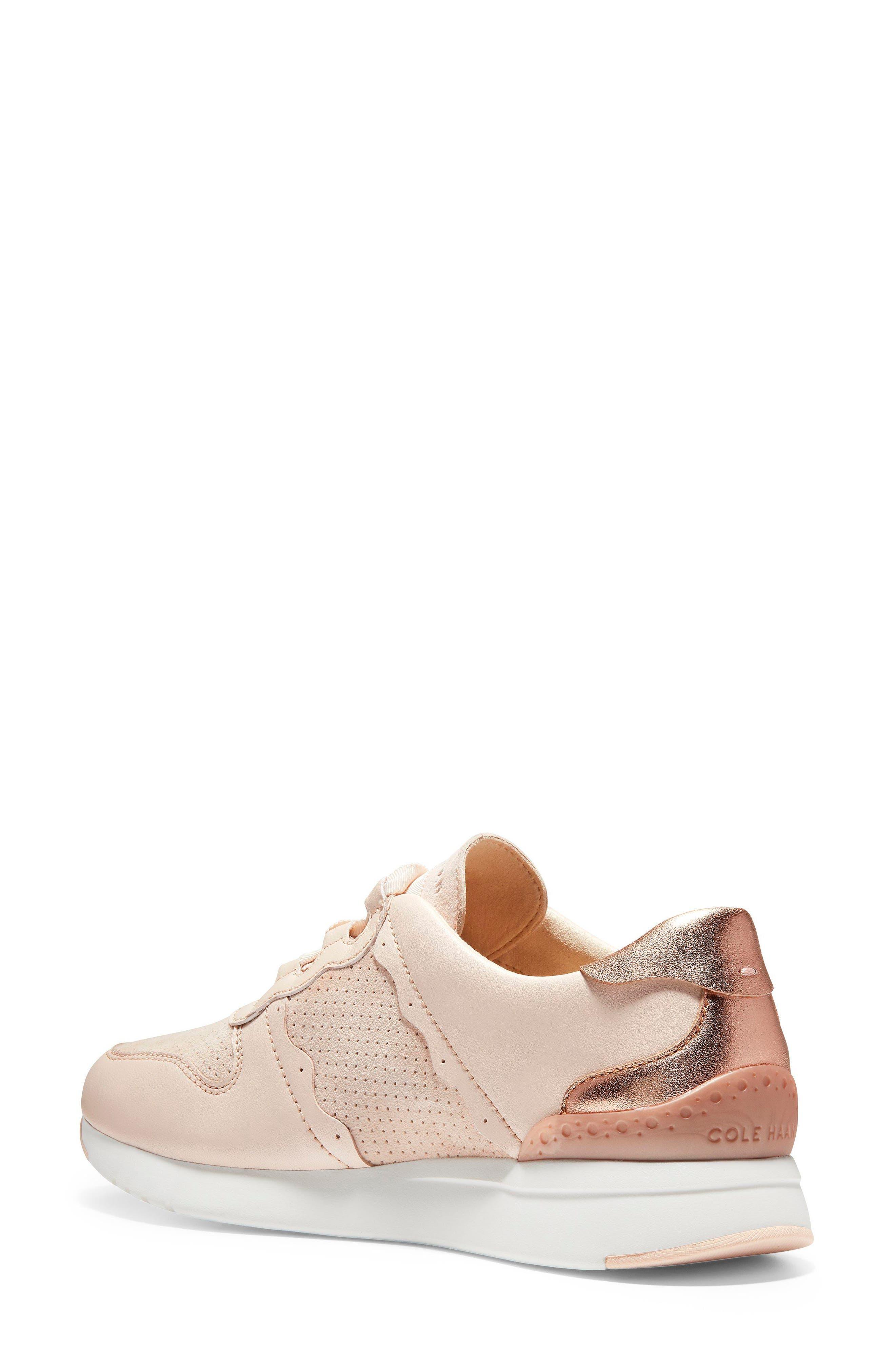 GrandPro Wedge Sneaker,                             Alternate thumbnail 2, color,                             Peach Blush Suede