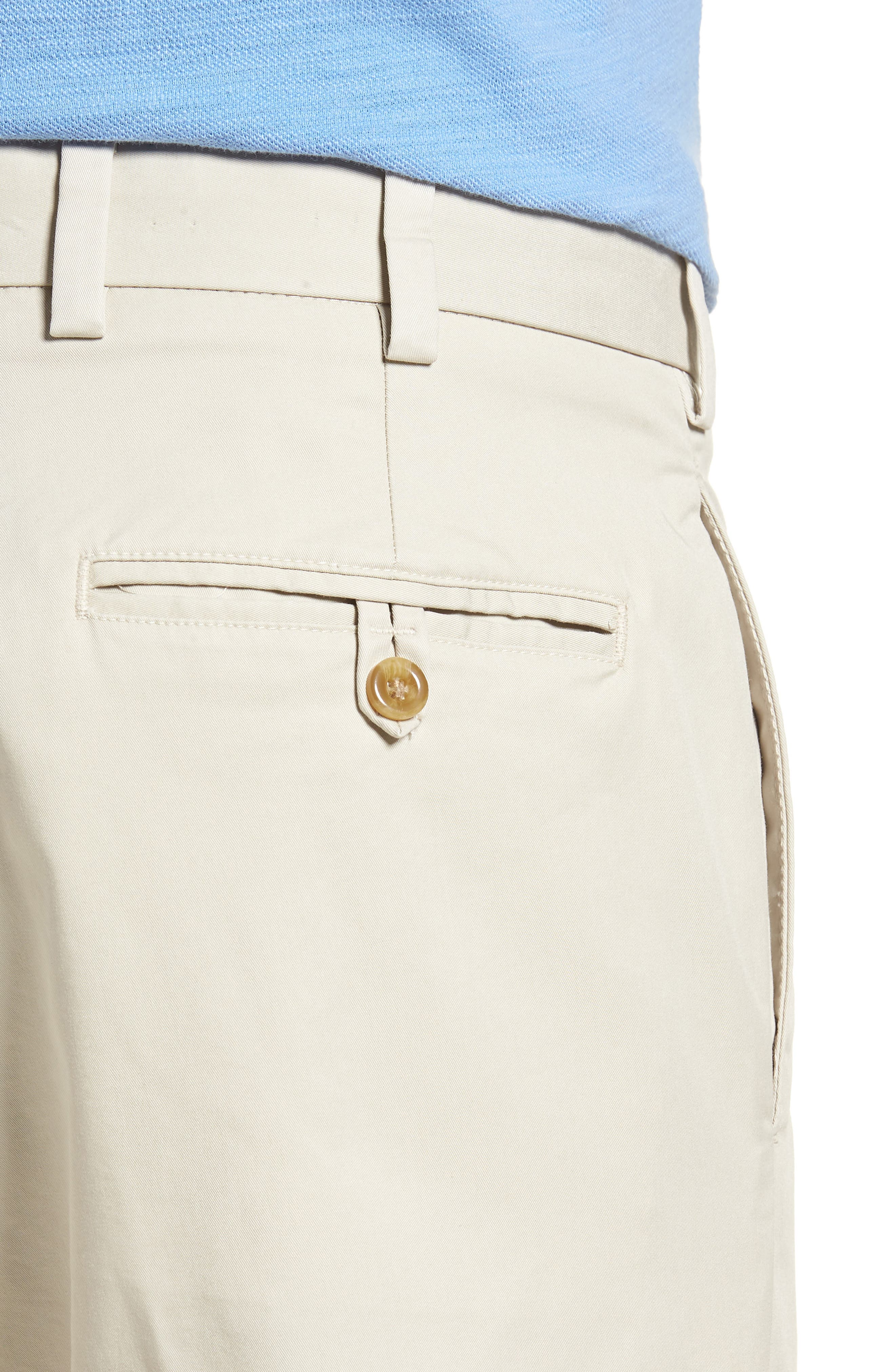 M2 Classic Fit Flat Front Travel Twill Pants,                             Alternate thumbnail 4, color,                             Cement