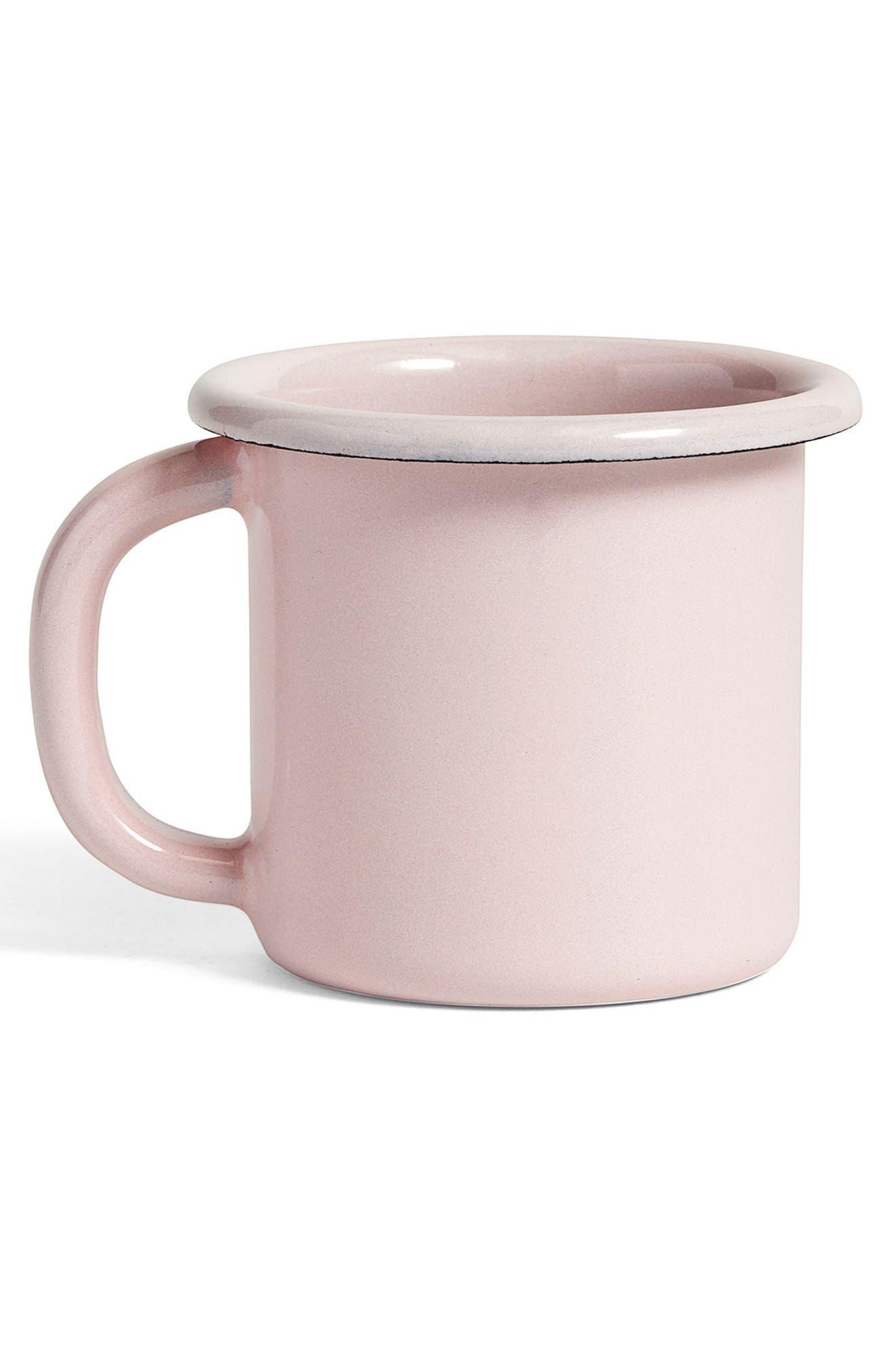 Enamel Mug,                             Alternate thumbnail 3, color,                             Soft Pink
