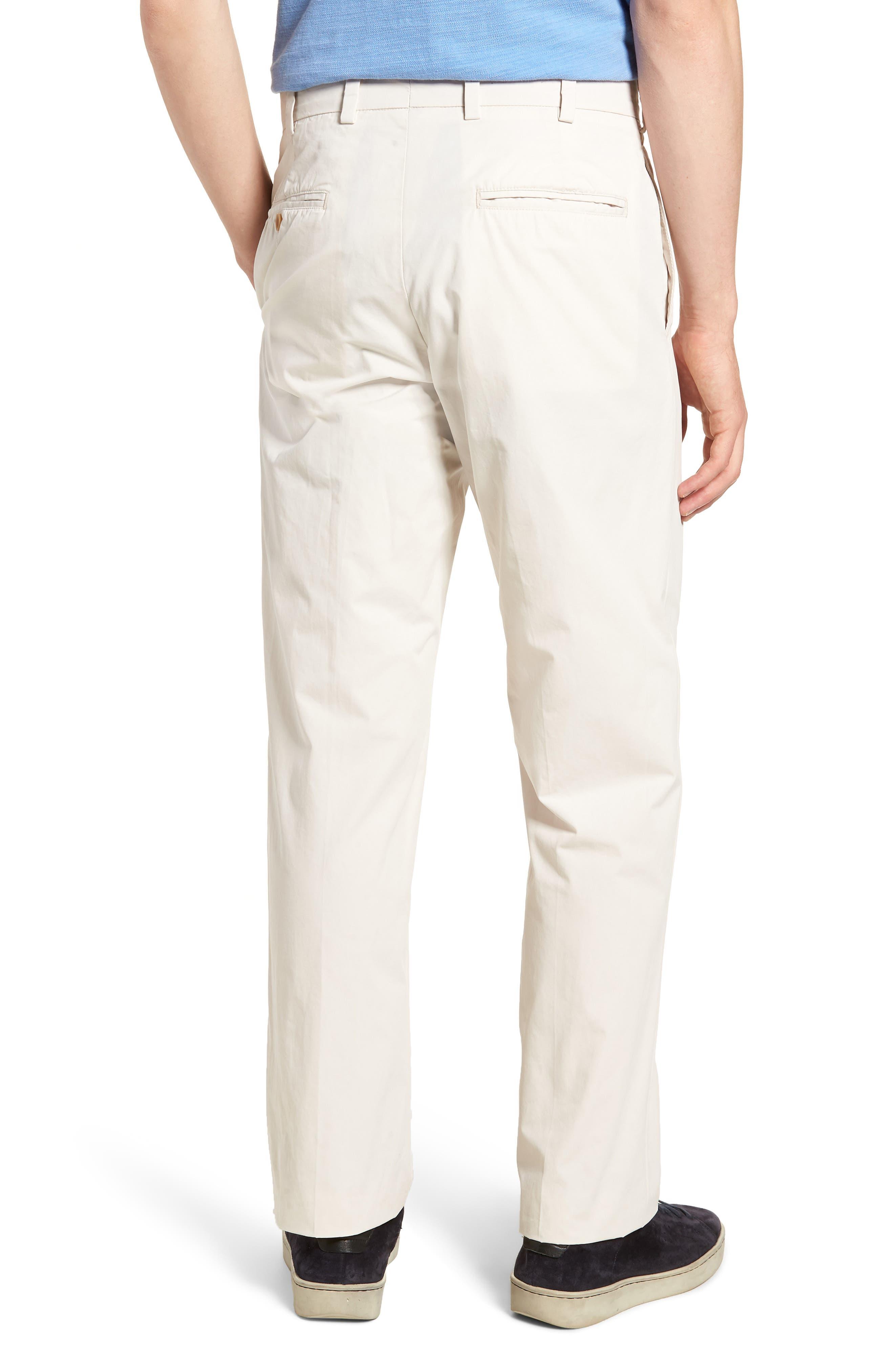 M2 Classic Fit Flat Front Tropical Cotton Poplin Pants,                             Alternate thumbnail 2, color,                             Sand